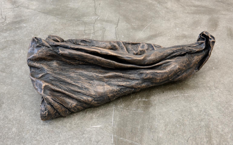 Matt Siegel,  Fountain , 2018, Bronze stomach, 7 x 24 x 11 in