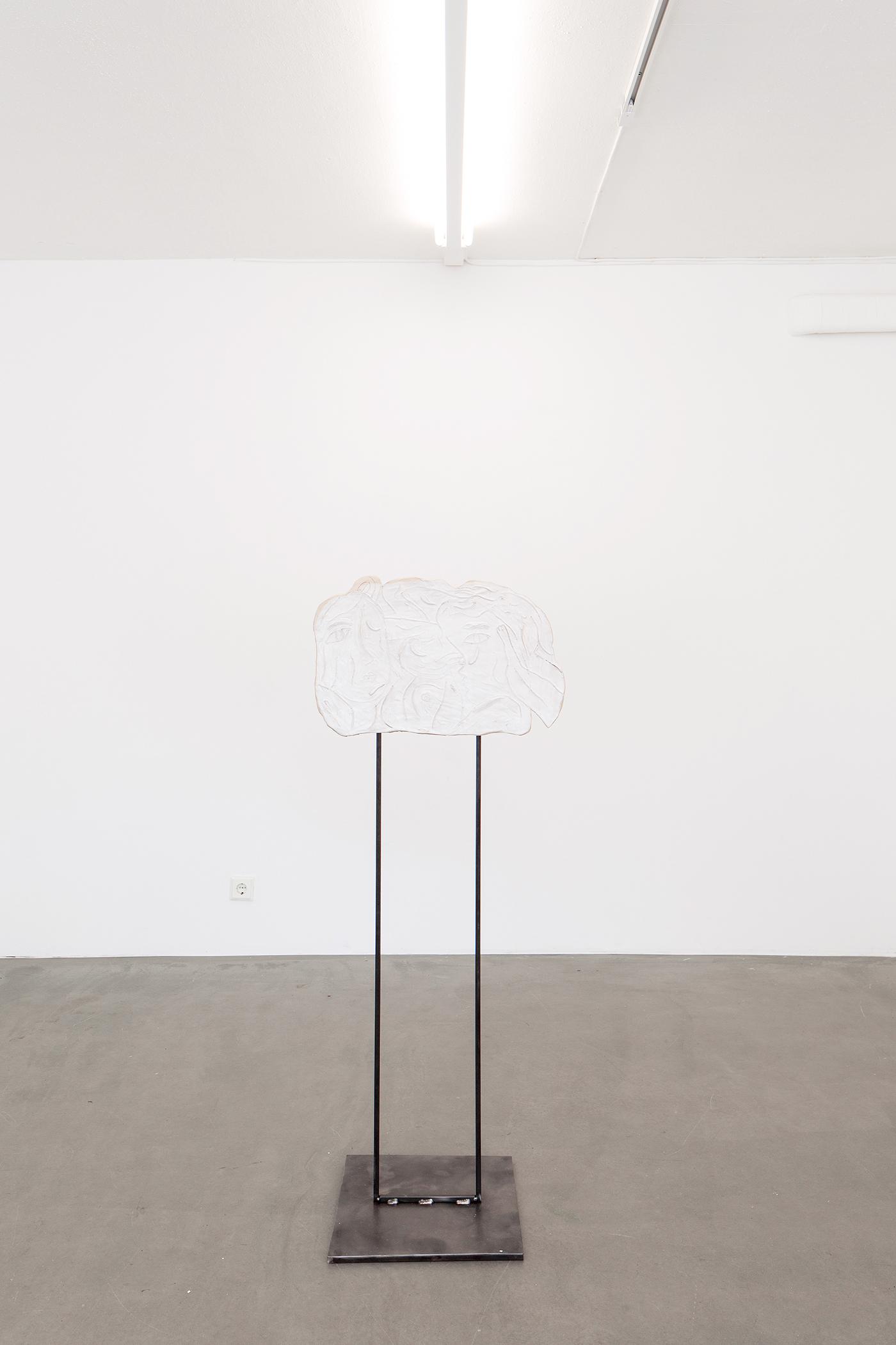 Alina Vergnano,  Sleepless Nights , 2019, stoneware, glazed, 50 x 38 cm