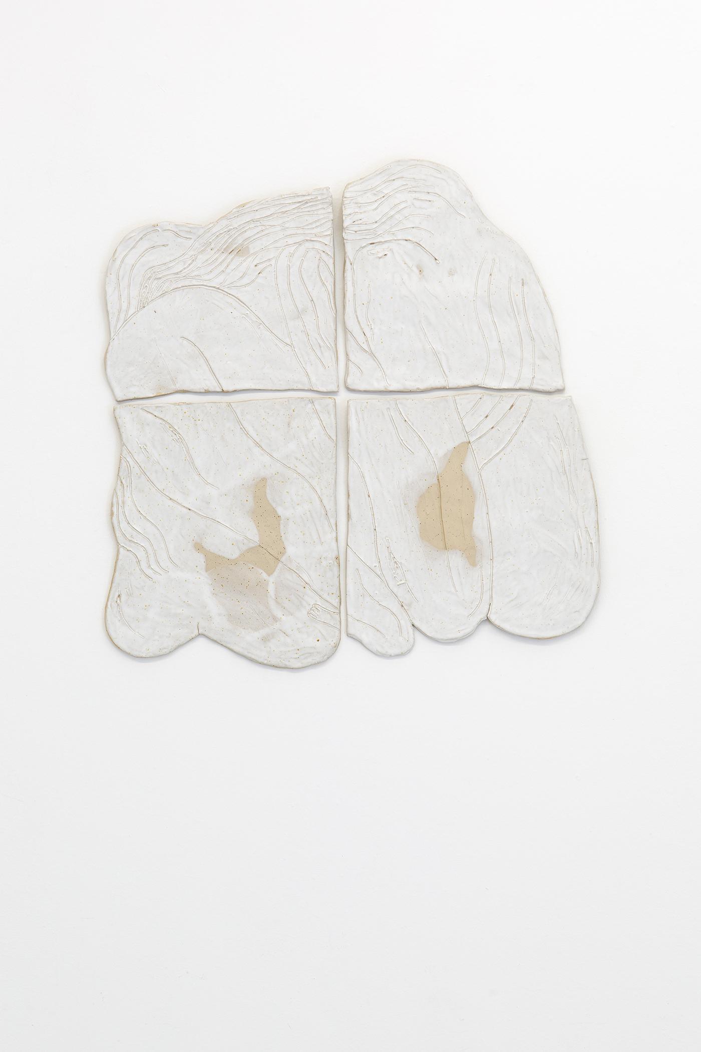 Alina Vergnano,  The Knots,  2019, stoneware, glazed, 60 x 60 cm