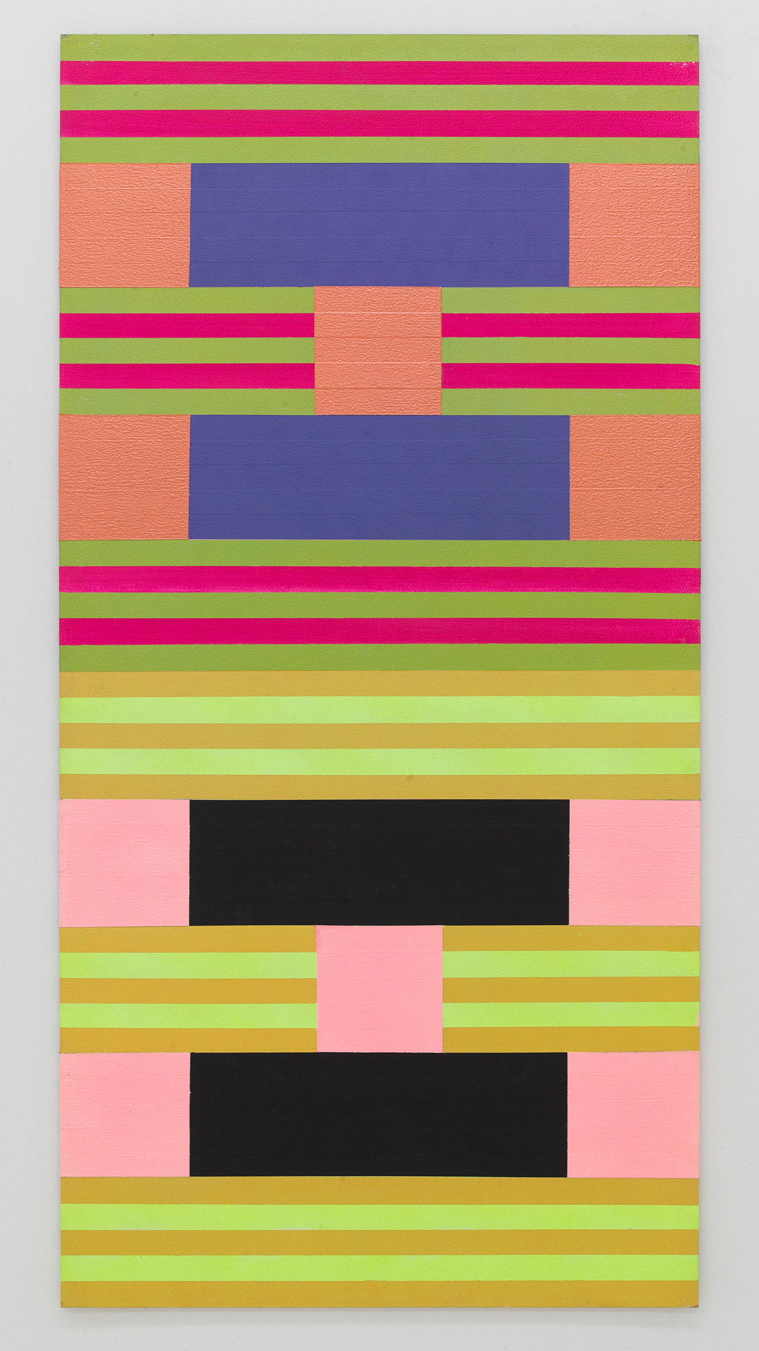 Tom Bronk,  15 (d) 1 , 2015 Acrylic on panel 48 × 24 inches