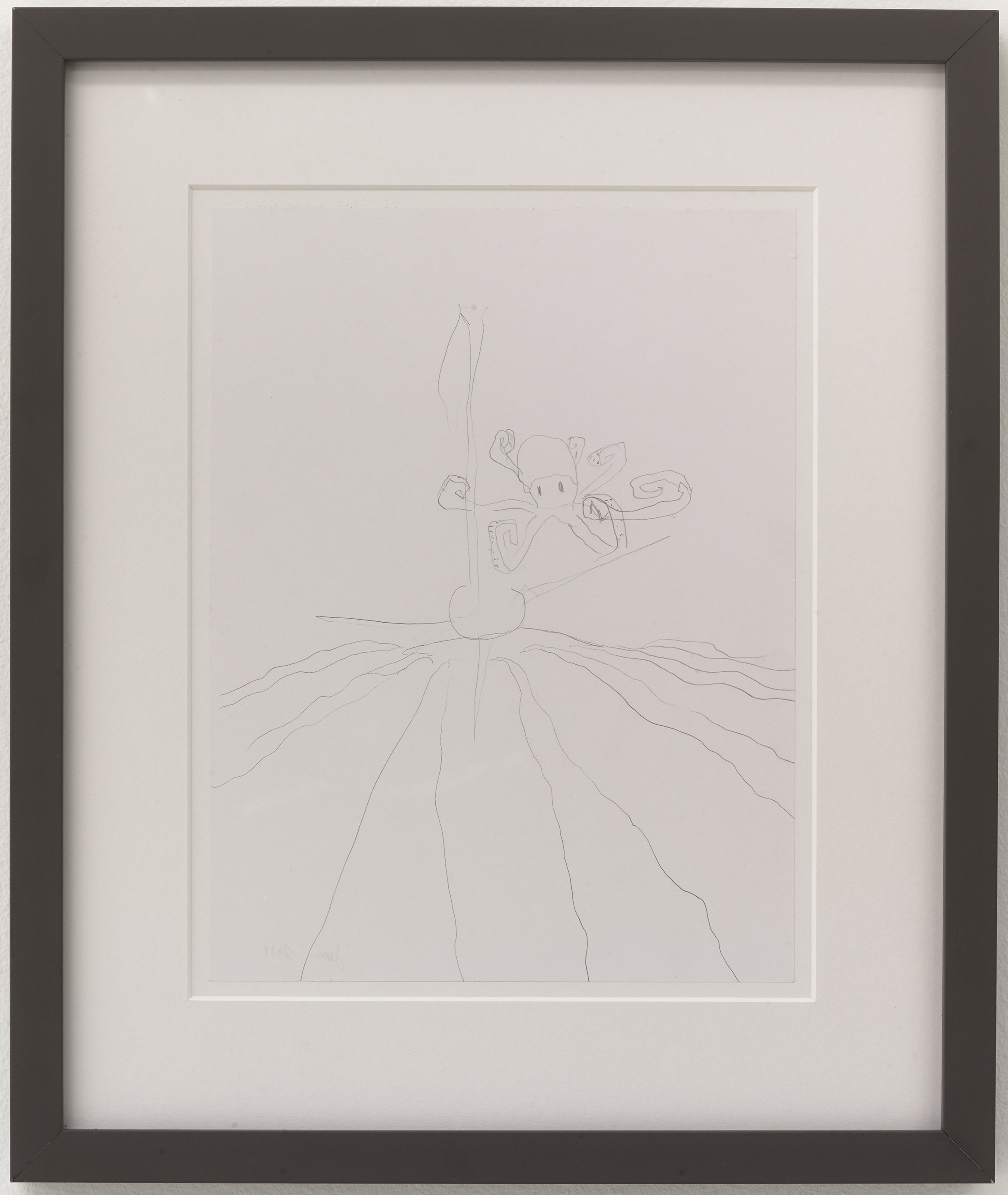 Jesse Sullivan,  Untitled , 2019, Pencil on paper, framed, 11 × 8 1/2 inches