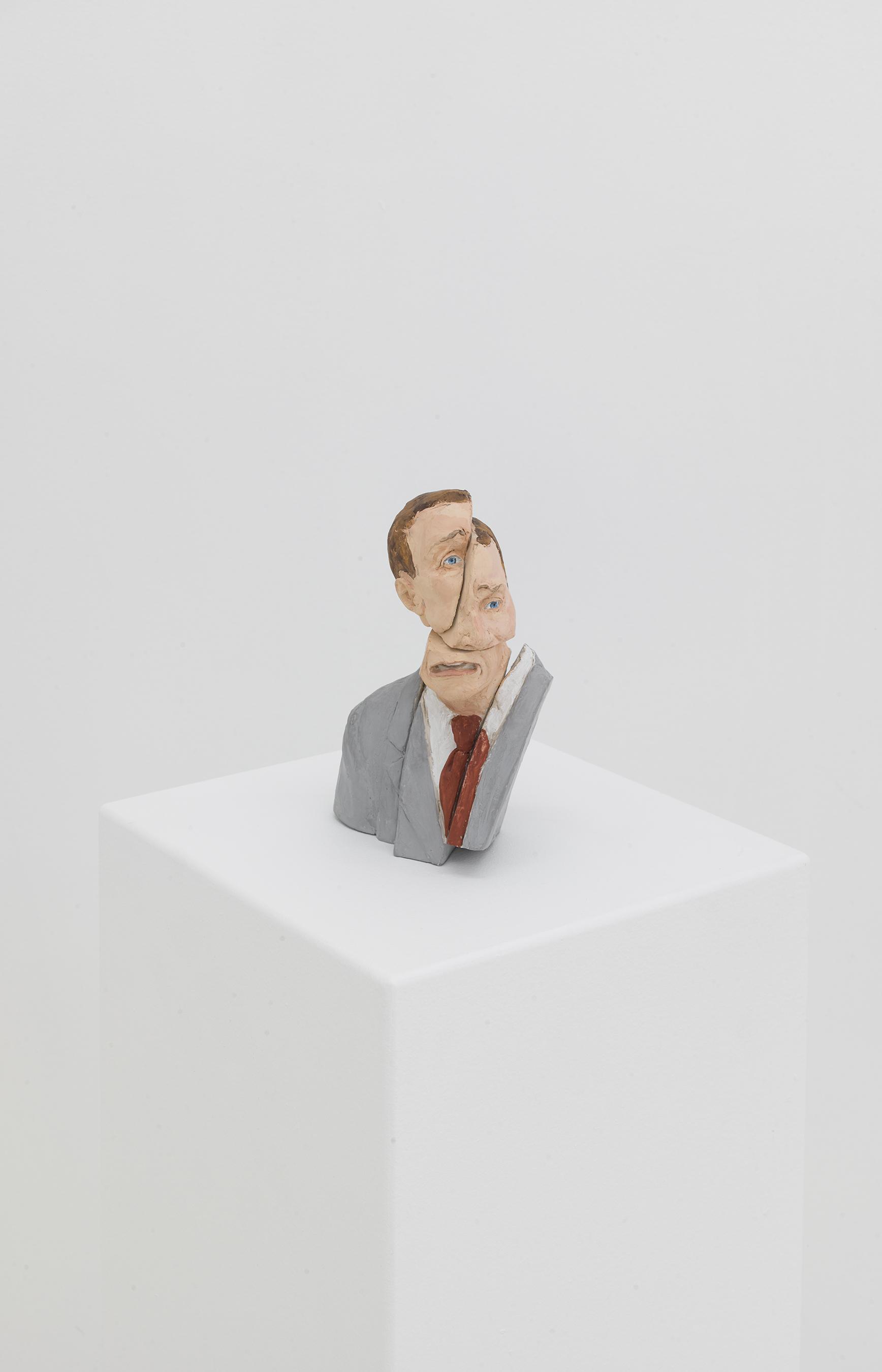 Cynthia Eardley,  Broken Man , 2010, Aqua-resin, casein 8 × 5 × 4 1/2 inches