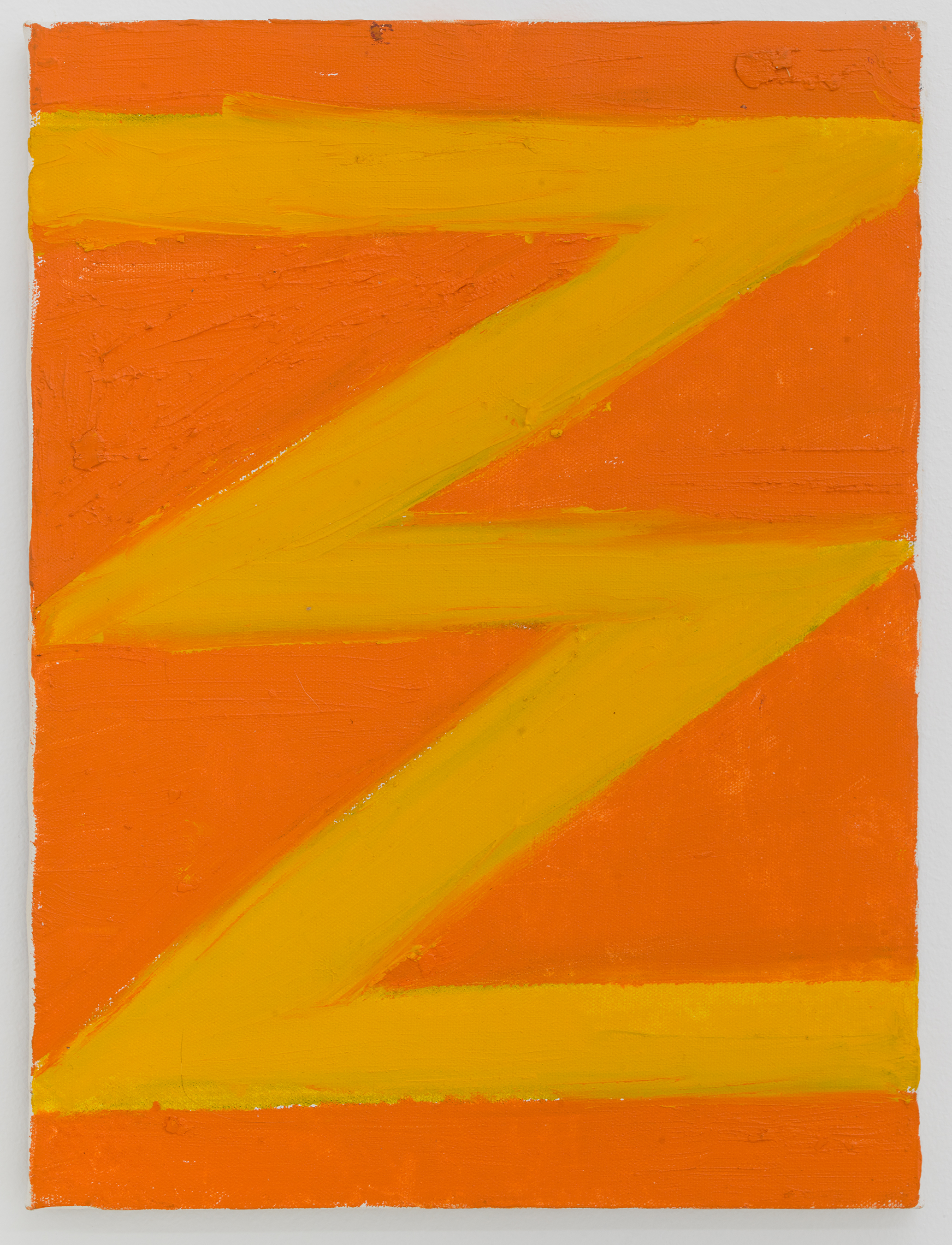 Thornton Willis,  A Late Zig-Zag , 2003 Oil on canvas  15 3/4 × 12 inches