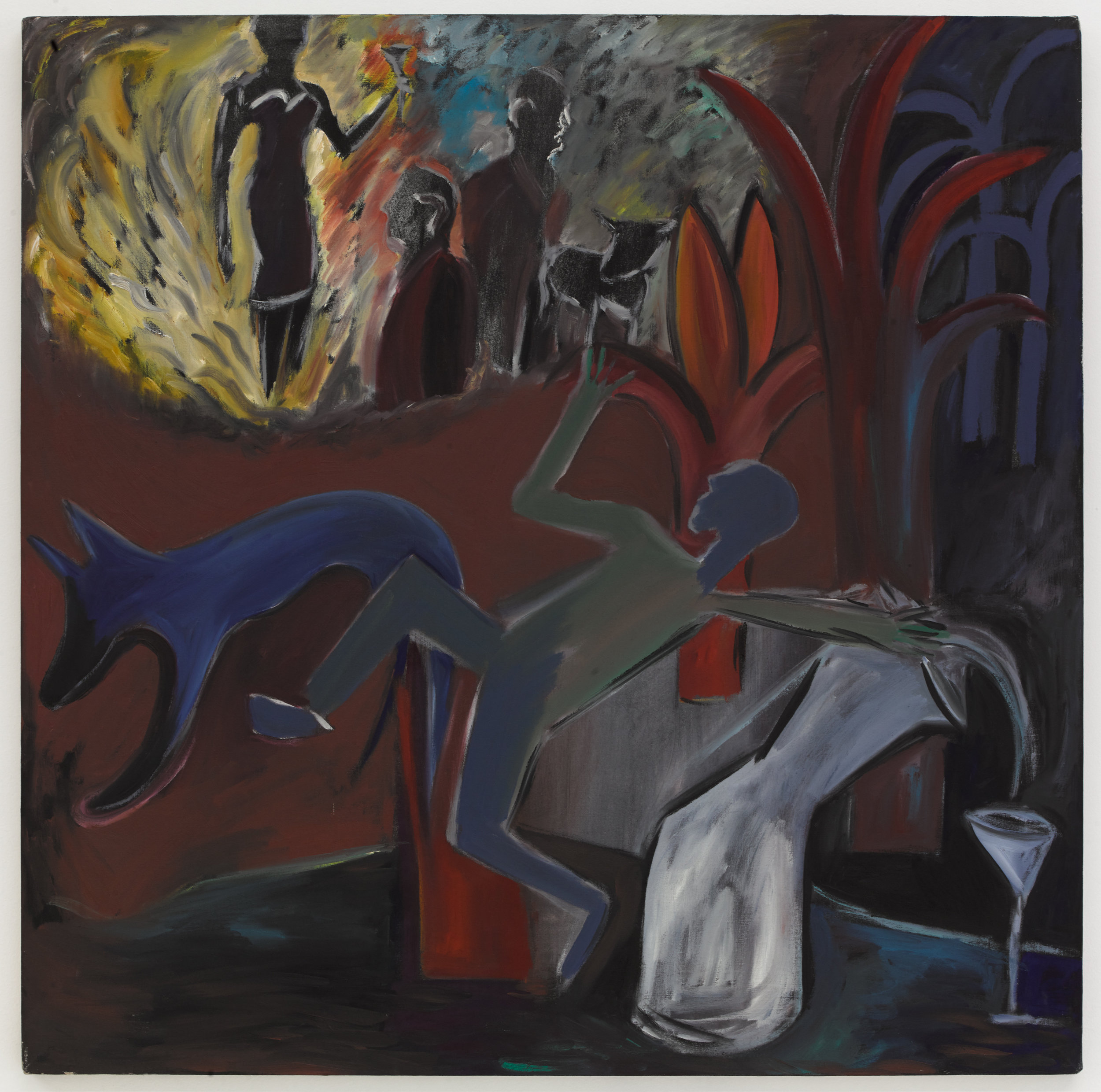 Mary Jane Hanja,  No Title , Early 1980s Oil on canvas  42 × 42 inches