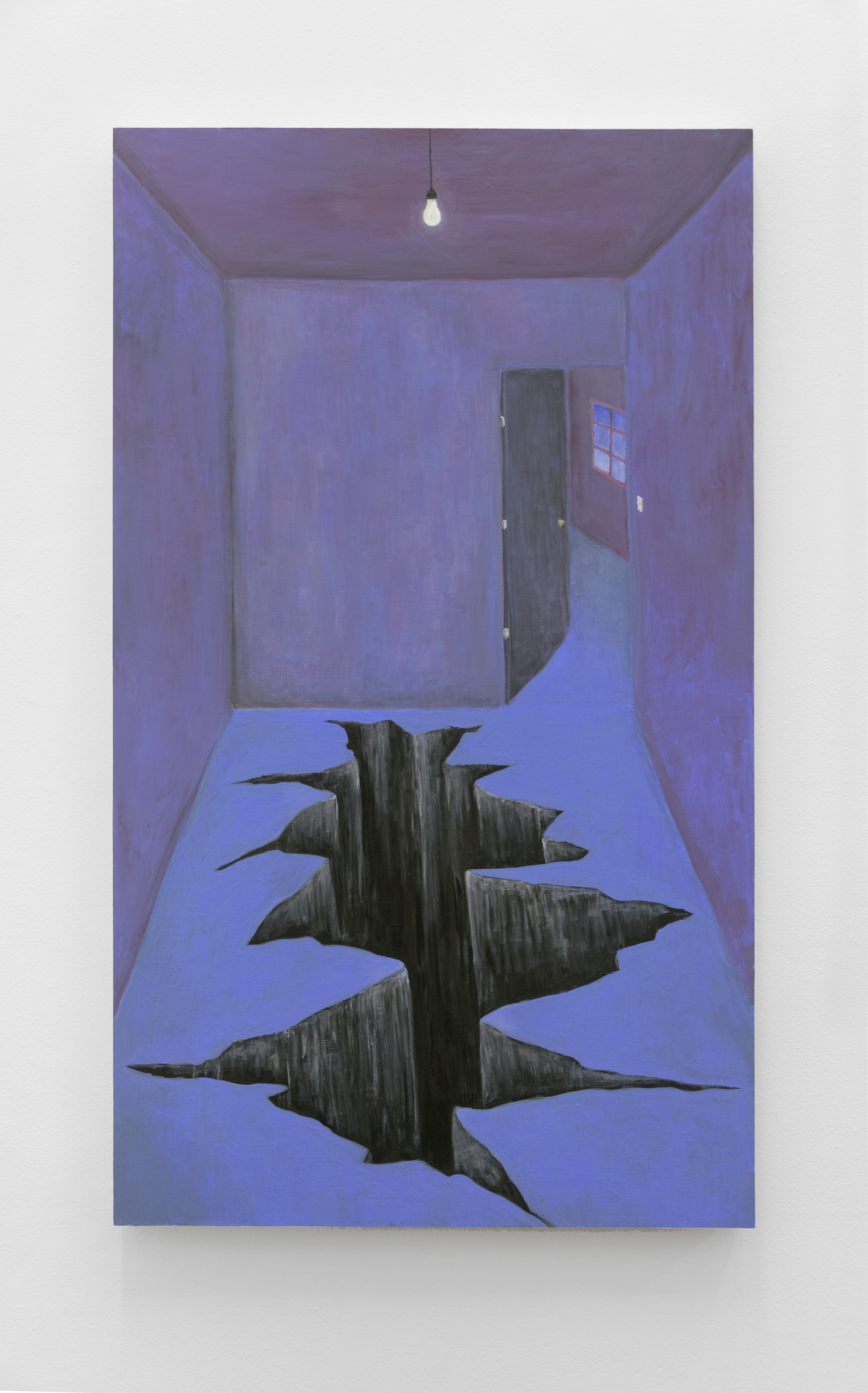 Chasm,  Acrylic and flashe on cradled birch panel 48 x 28 in, 2019