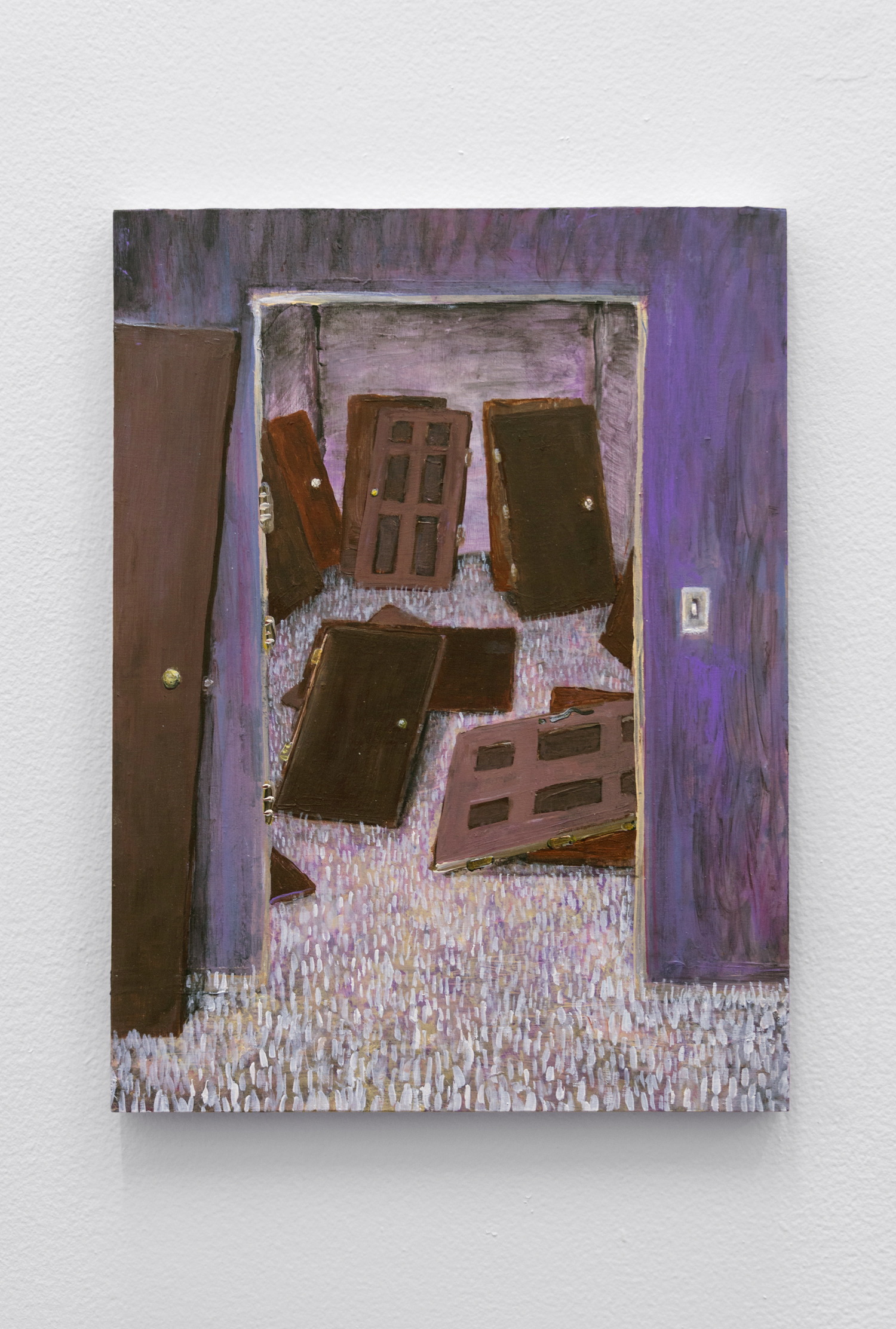 Doors , Acrylic and flashe on cradled birch panel 14 x 11 in, 2019