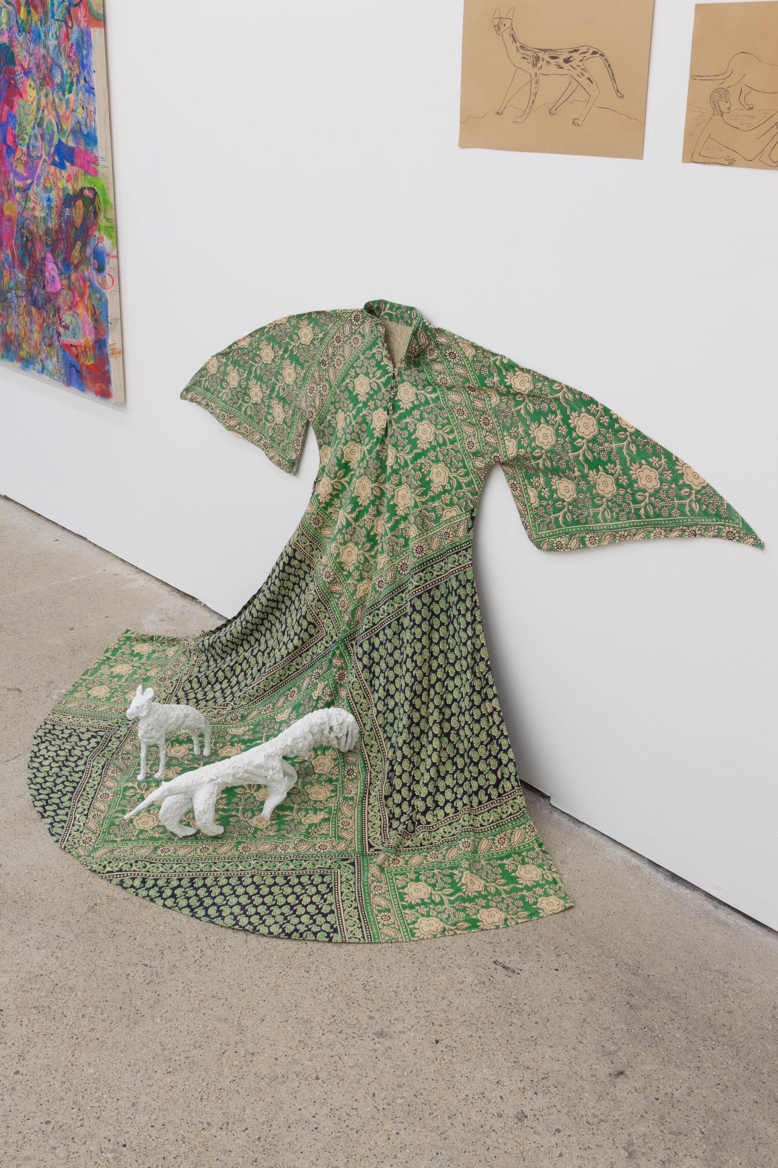 Lin May Saeed  Hyena , 2019;  Anteater , 2019 (installation view)