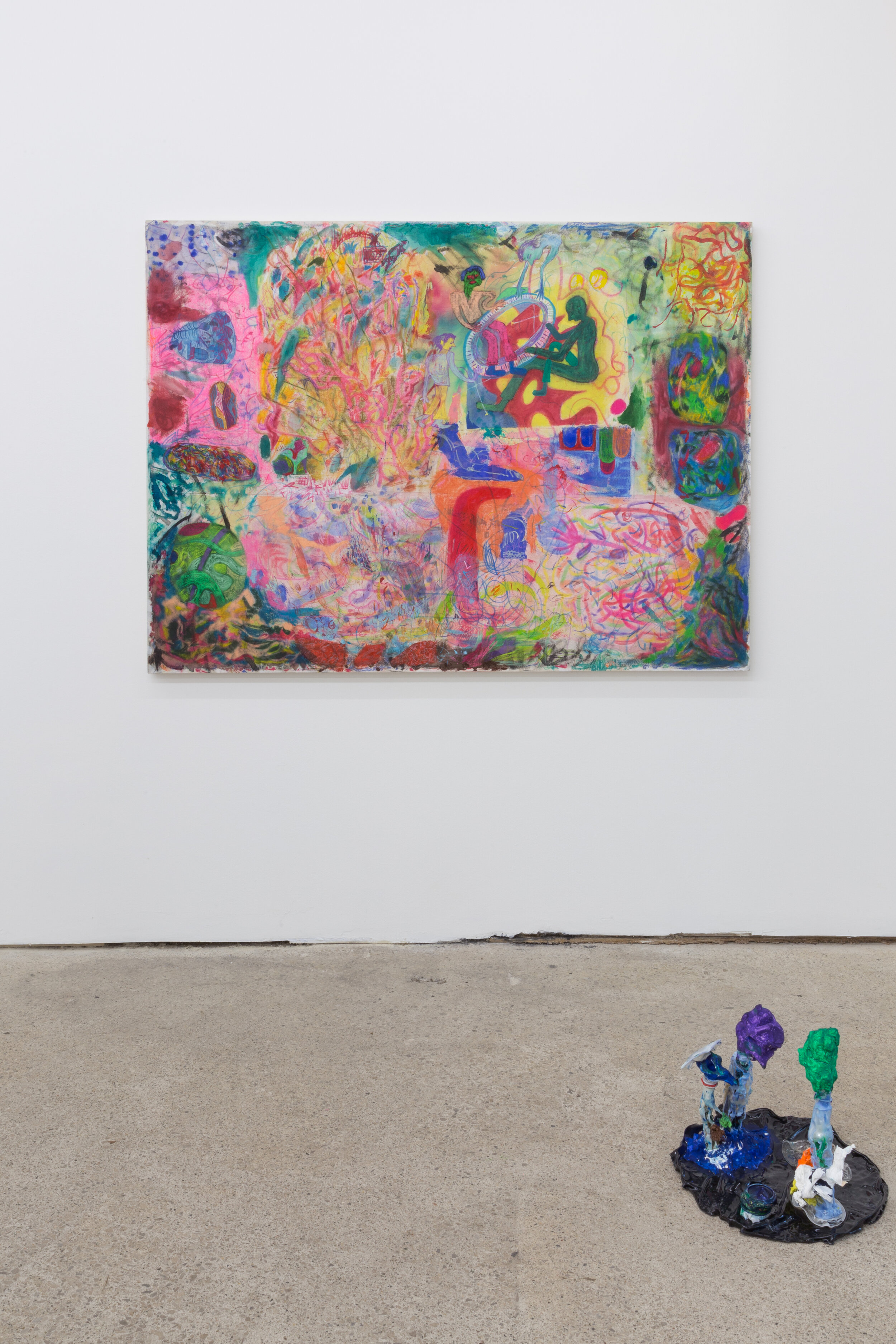 Max Brand  Untitled , 2019;  Untitled , 2019 (installation view)