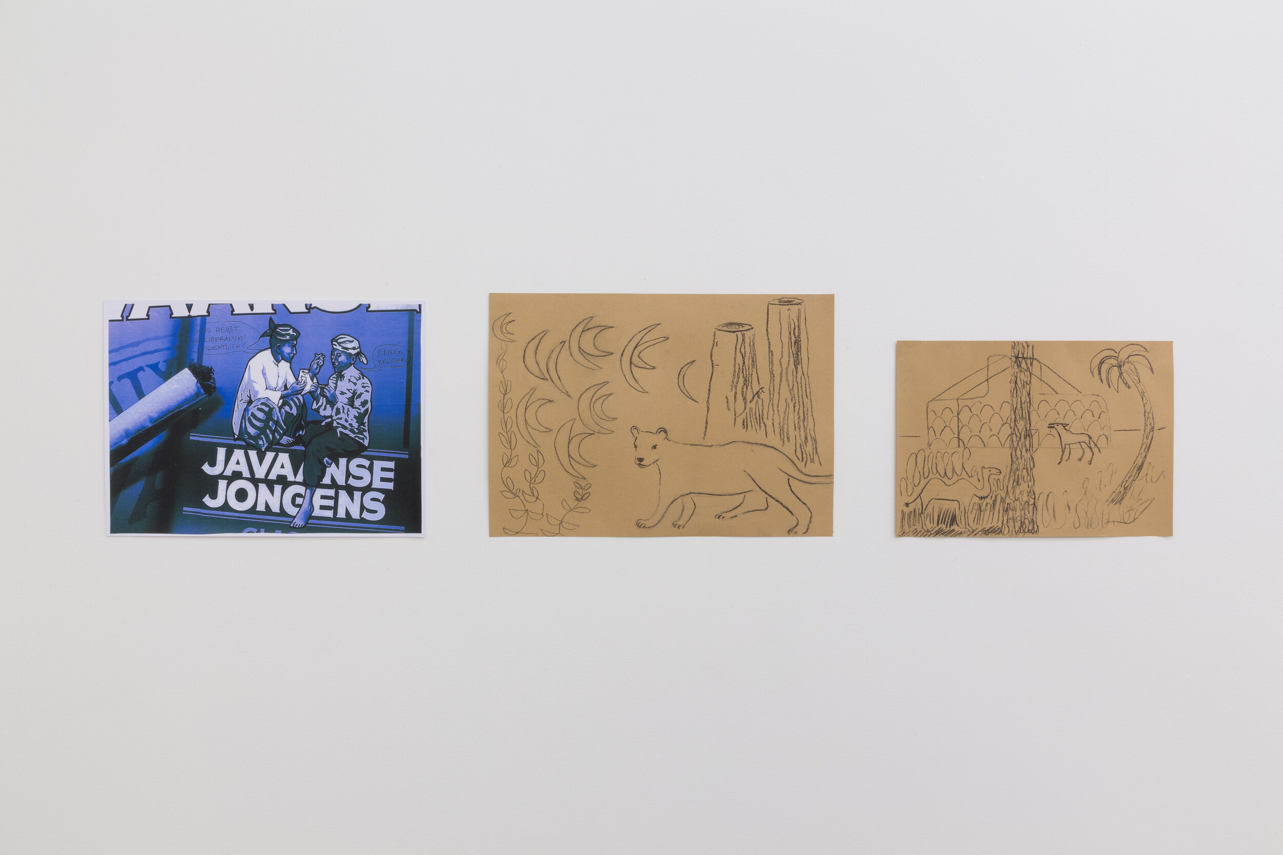 Lin May Saeed  Untitled , 2019;  Yayah , 2019;  Hammar Marshes , 2019 (installation view, left to right)