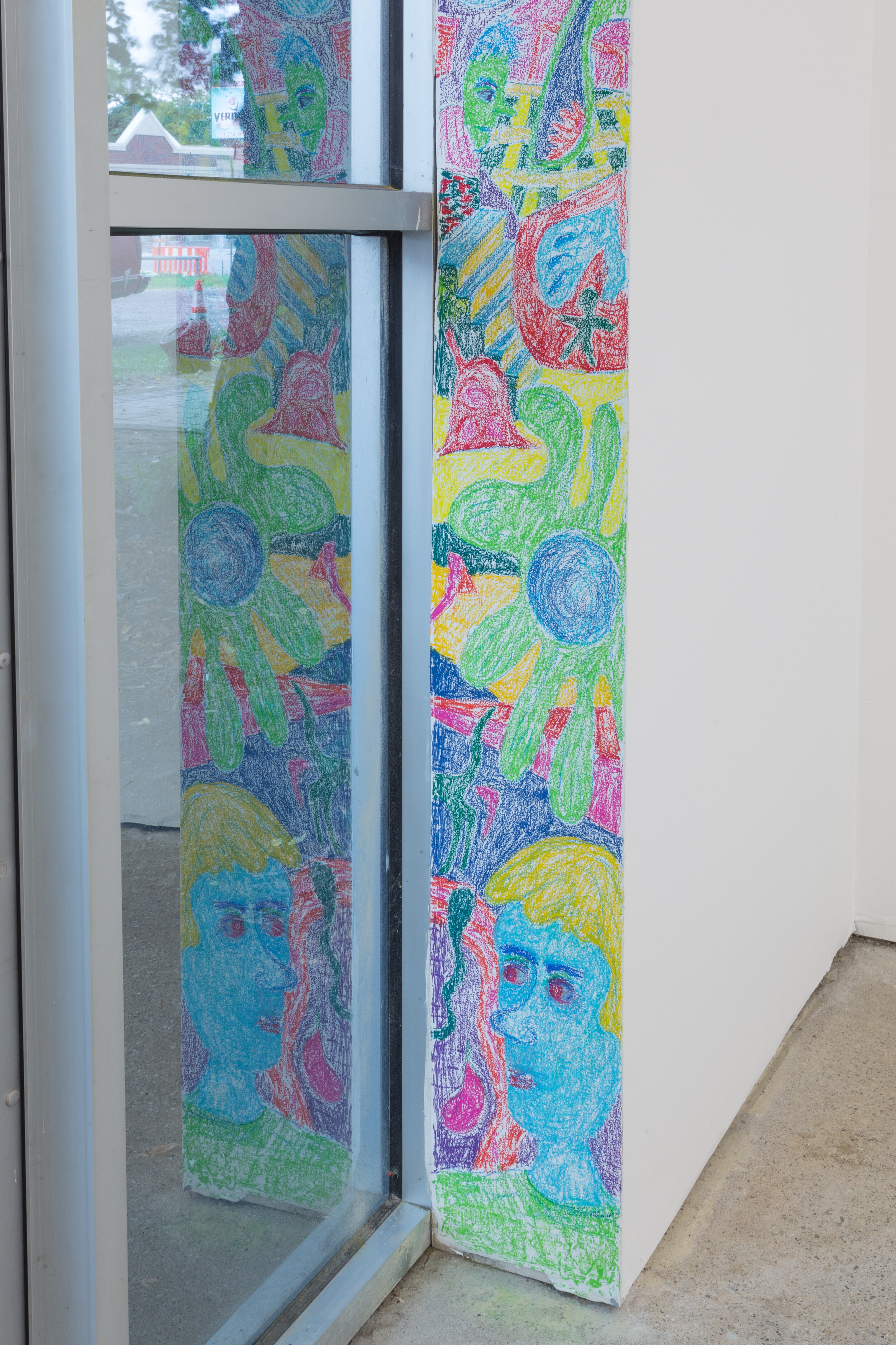 Wall drawing by Max Brand, installation view