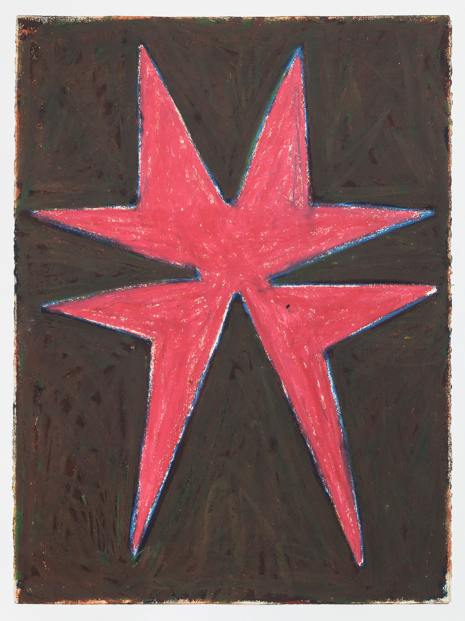 Stewart Hitch,  Untitled , circa early 1980s Oil stick and pastel on paper 30 x 22 inches