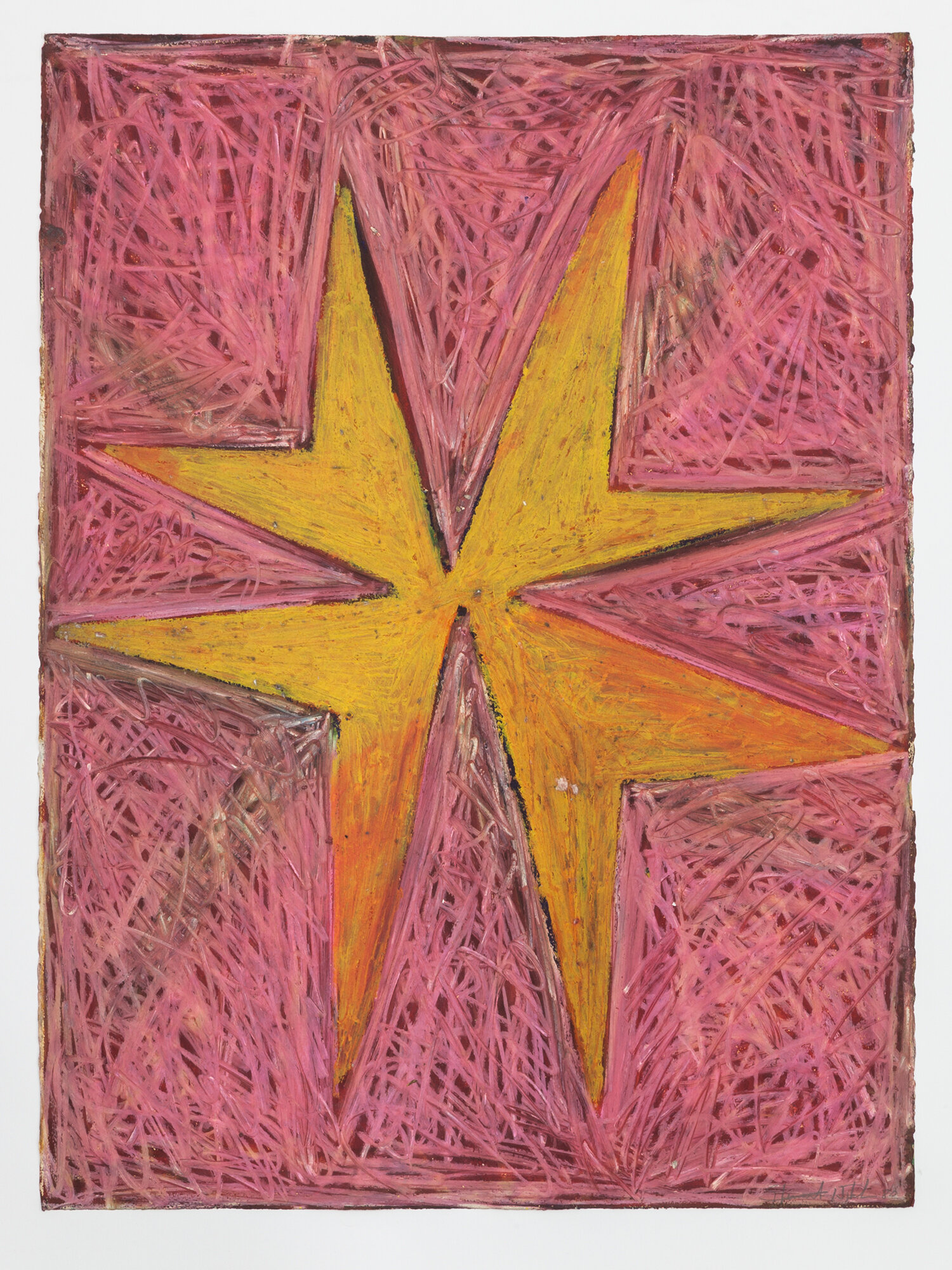 Stewart Hitch,  Untitled , 1980, Oil stick on paper 30 x 22 inches
