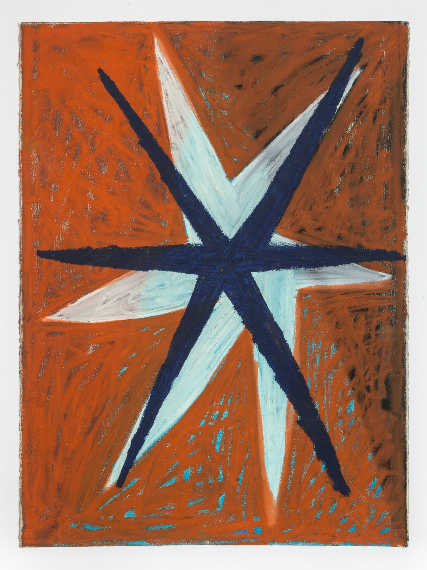 Stewart Hitch,  Untitled,  1981, Oil stick and pastel on paper 30 x 22 inches