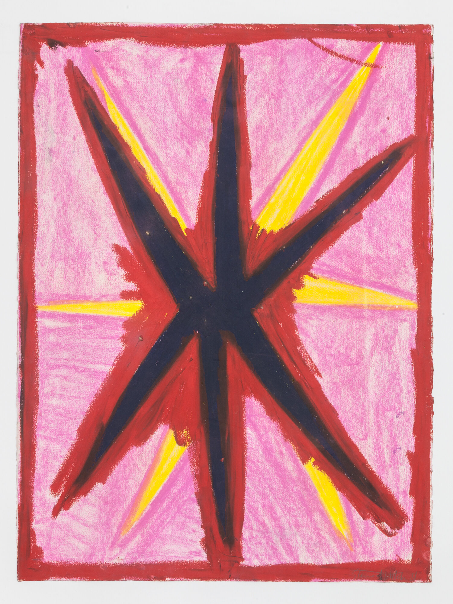 Stewart Hitch,  Untitled,  1981, Oil stick on paper 30 x 22 inches