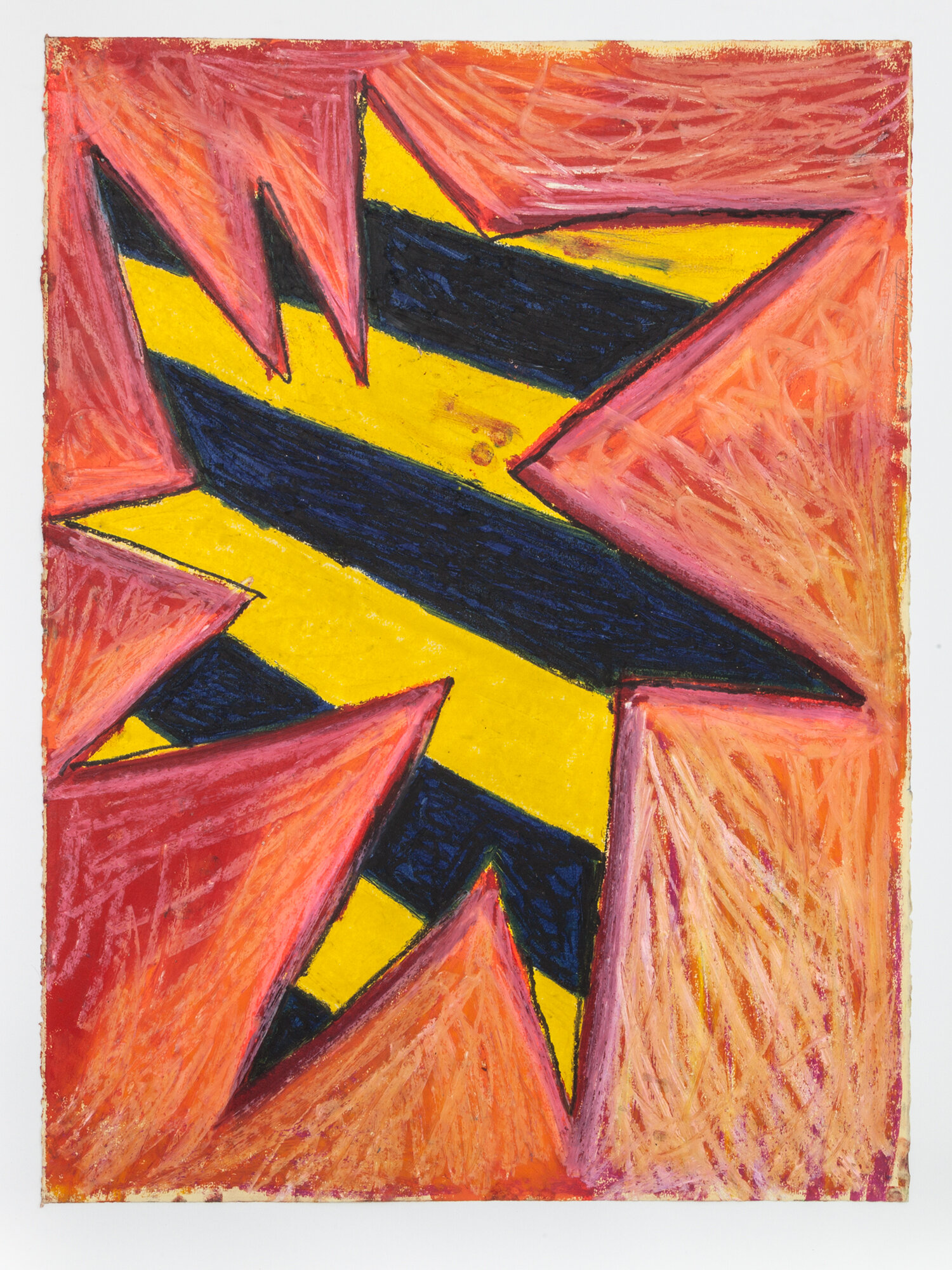 Stewart Hitch,  Untitled , 1982, Oil stick on paper 30 x 22 inches