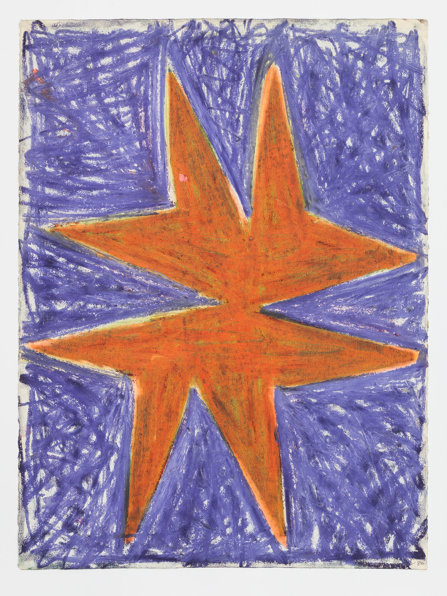 Stewart Hitch,  Untitled,  1980, Oil stick and pastel on paper 30 x 22 inches