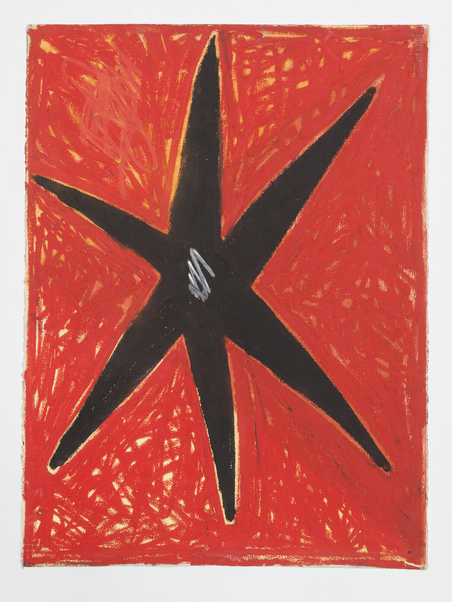 Stewart Hitch  Untitled , 1981, Oil stick on paper 30 x 22 inches
