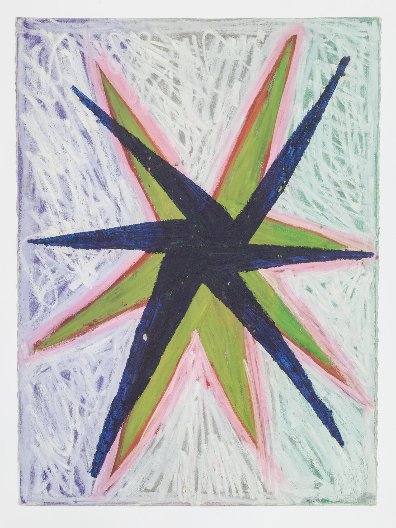 Stewart Hitch,  Untitled , 1981, Oil stick on paper 30 x 22 inches
