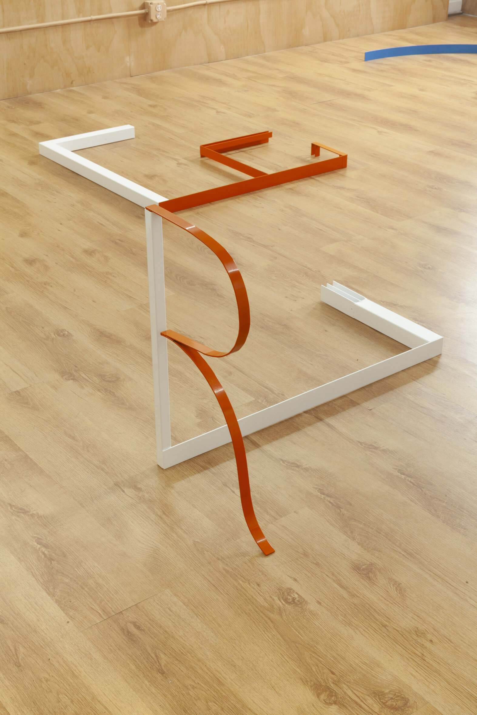 Various entry points 5,  2019, Powder coated steel, 36 x 25 x 18 inches