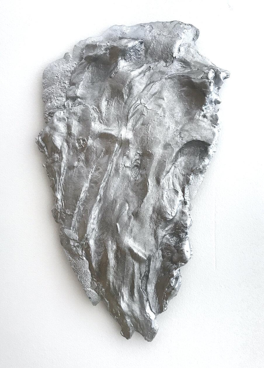 Shit 4,  2019, Cast aluminum, 5 x 9 x 1⁄2 inches