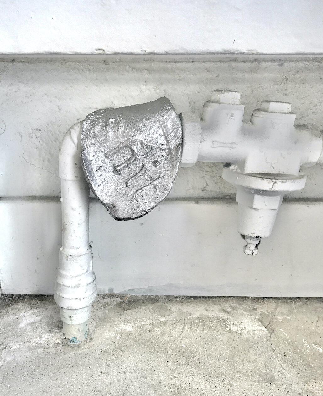 Shit 3,  2019, Cast aluminum, 5 x 4 x 4 inches