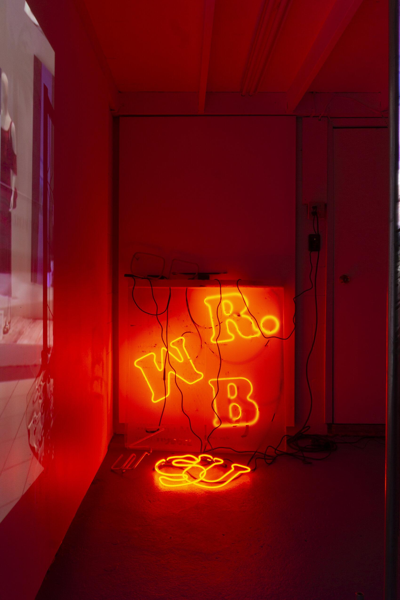 Sophia Oppel,  Mr. Sub , 2019, Neon, acrylic.