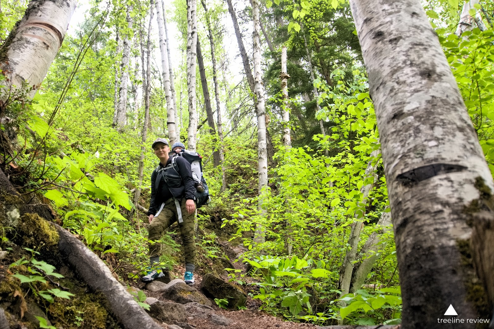 Trail testing shoes on a hike to Moul Falls in Wells Gray Provincial Park, BC.   Photo: Steve Redmond