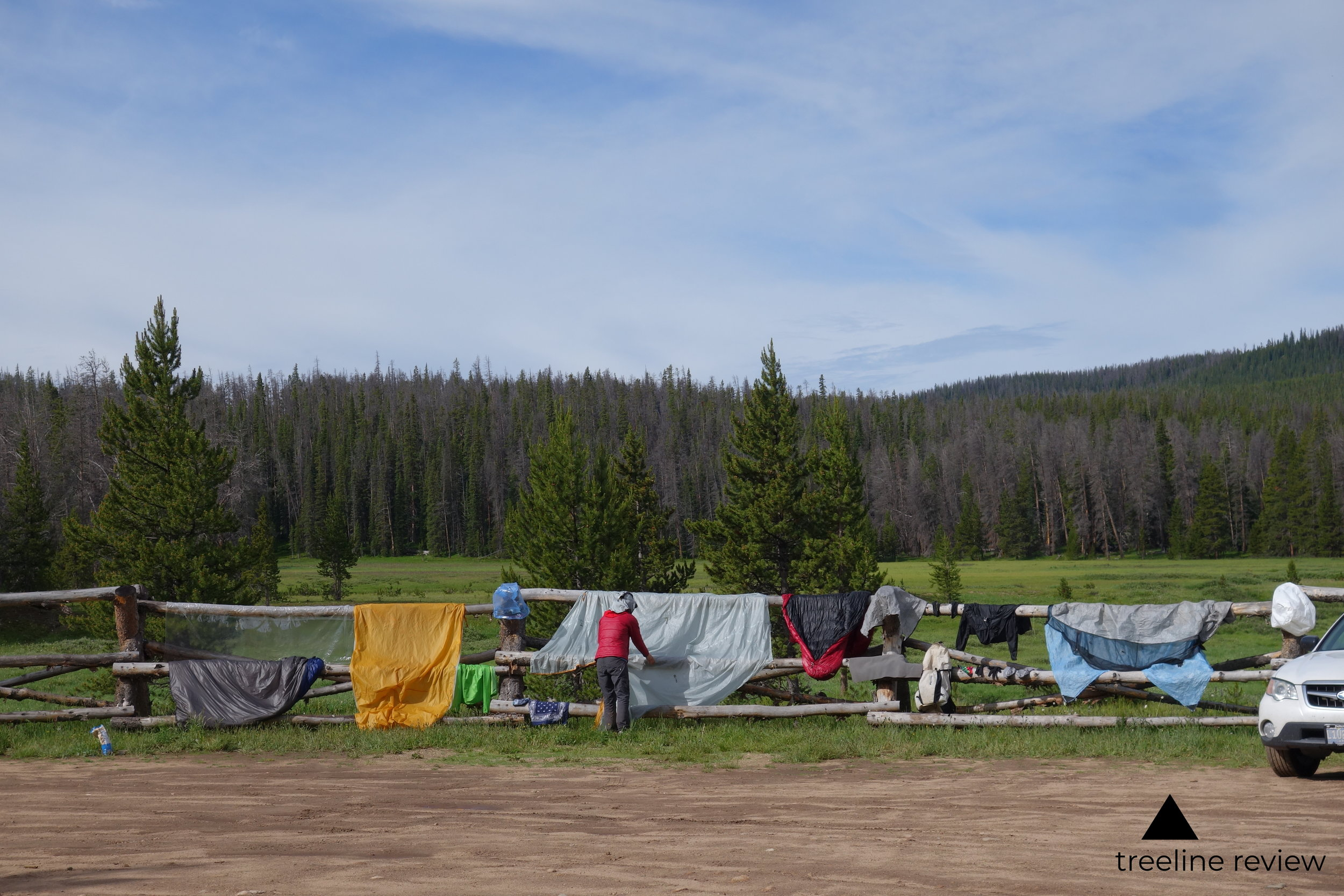 Dry your tent to reduce chances of foul odors.  Photo by John Carr.