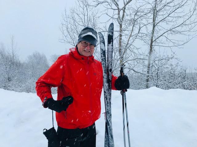 Tester Shaun Sexton backcountry ski touring in Talkeetna Range, Alaska. One reason he likes the REI Drypoint GTX is voluminous side pockets that hold ski waxing essentials, clothing, snacks, etc.   Photo courtesy Shaun Sexton.