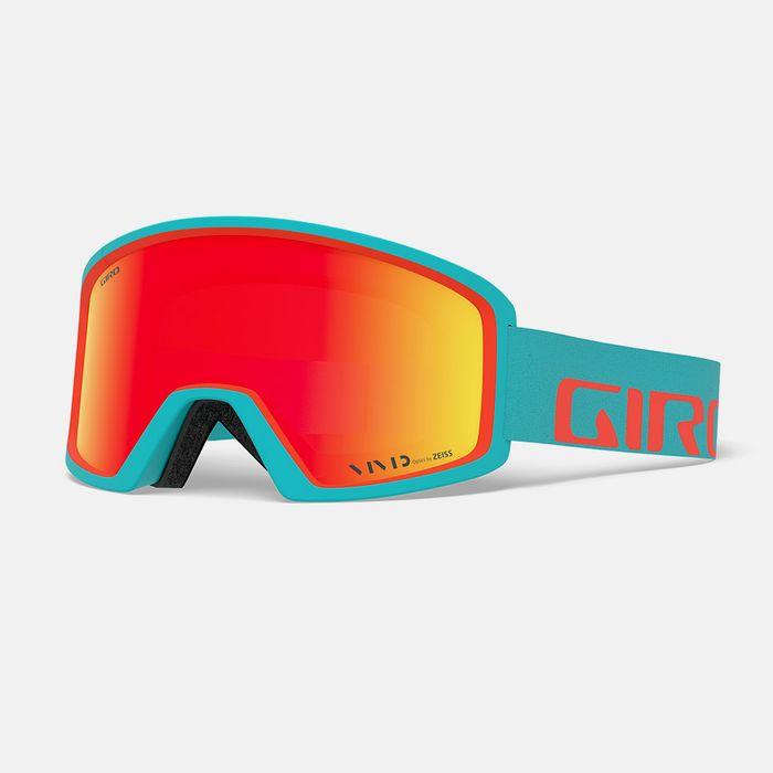 The Giro Blok ski goggle shown here in red orange.