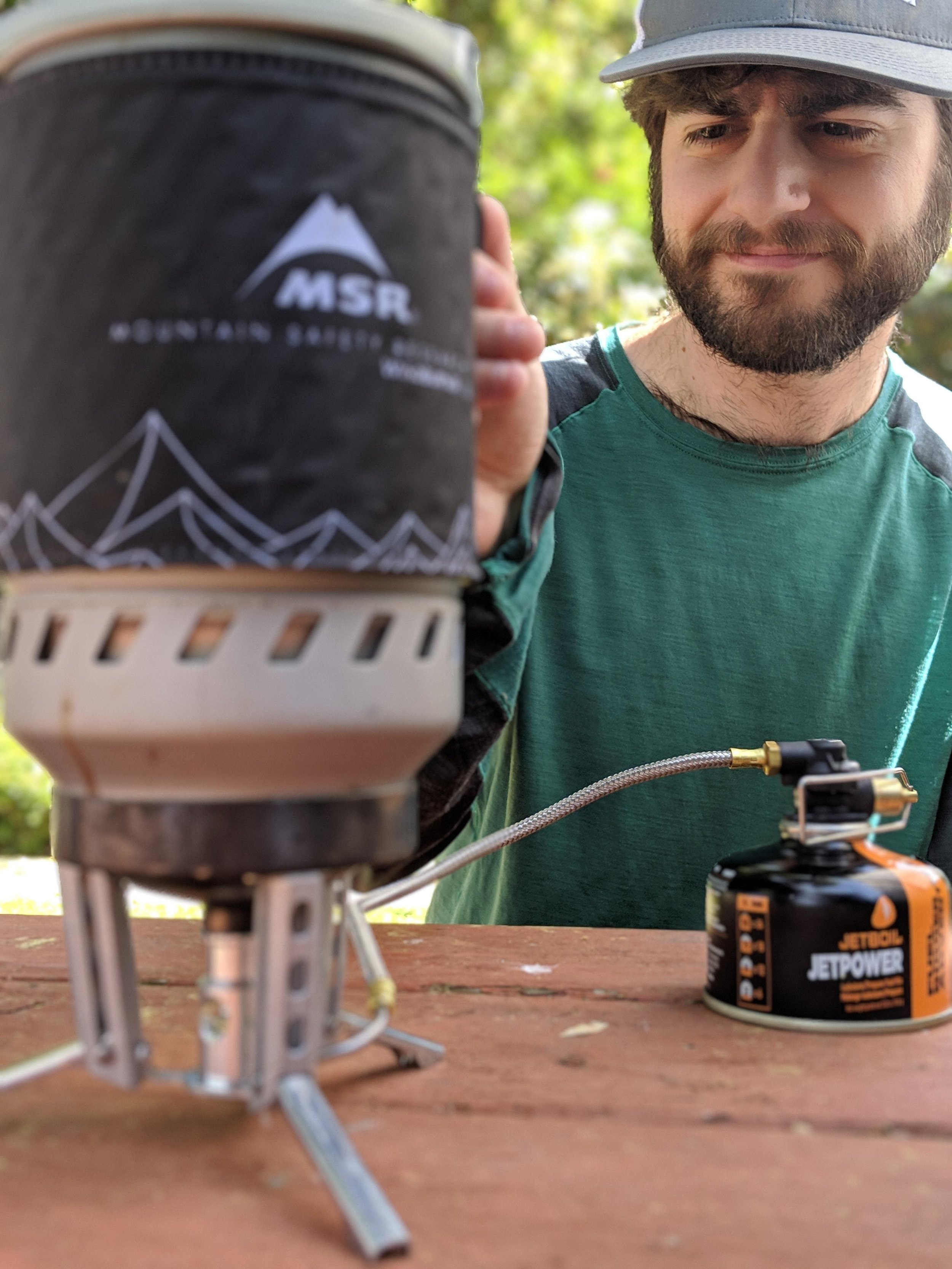 The MSR Windburner is one of the most intuitive stoves to use.   Photo by Liz Thomas.