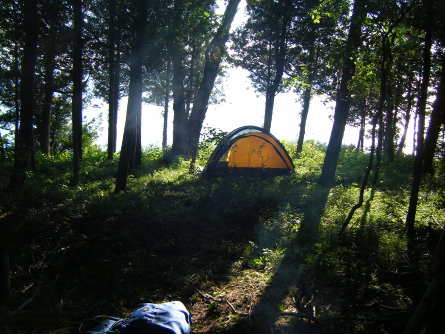 The Copper Canyon is an affordable family tent that fits four people.  Photo courtesy Micah Leinbach.