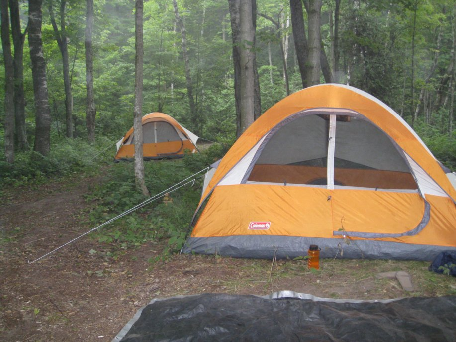 If you choose to camp with the Sundome, use it in dry areas with low wind and no weather in the future. Here, the author uses the Sundome as part of an outdoor education camp he is teaching.   Photo courtesy Micah Leinbach.