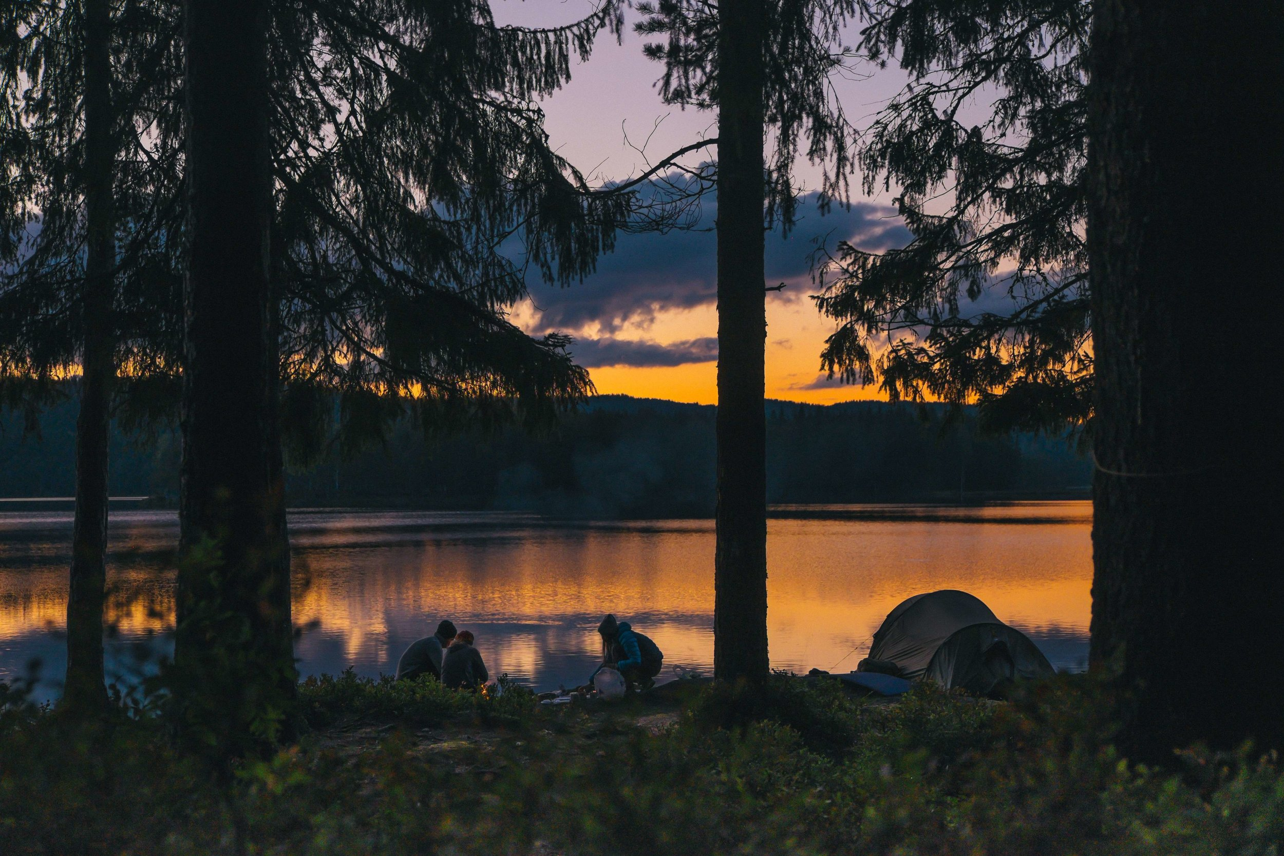 Moist campsites or areas that are muddy, like the totally not Leave No Trace campsite shown in this photo, will benefit most from a tent footprint.   Photo by    Andreas Rønningen    on    Unsplash