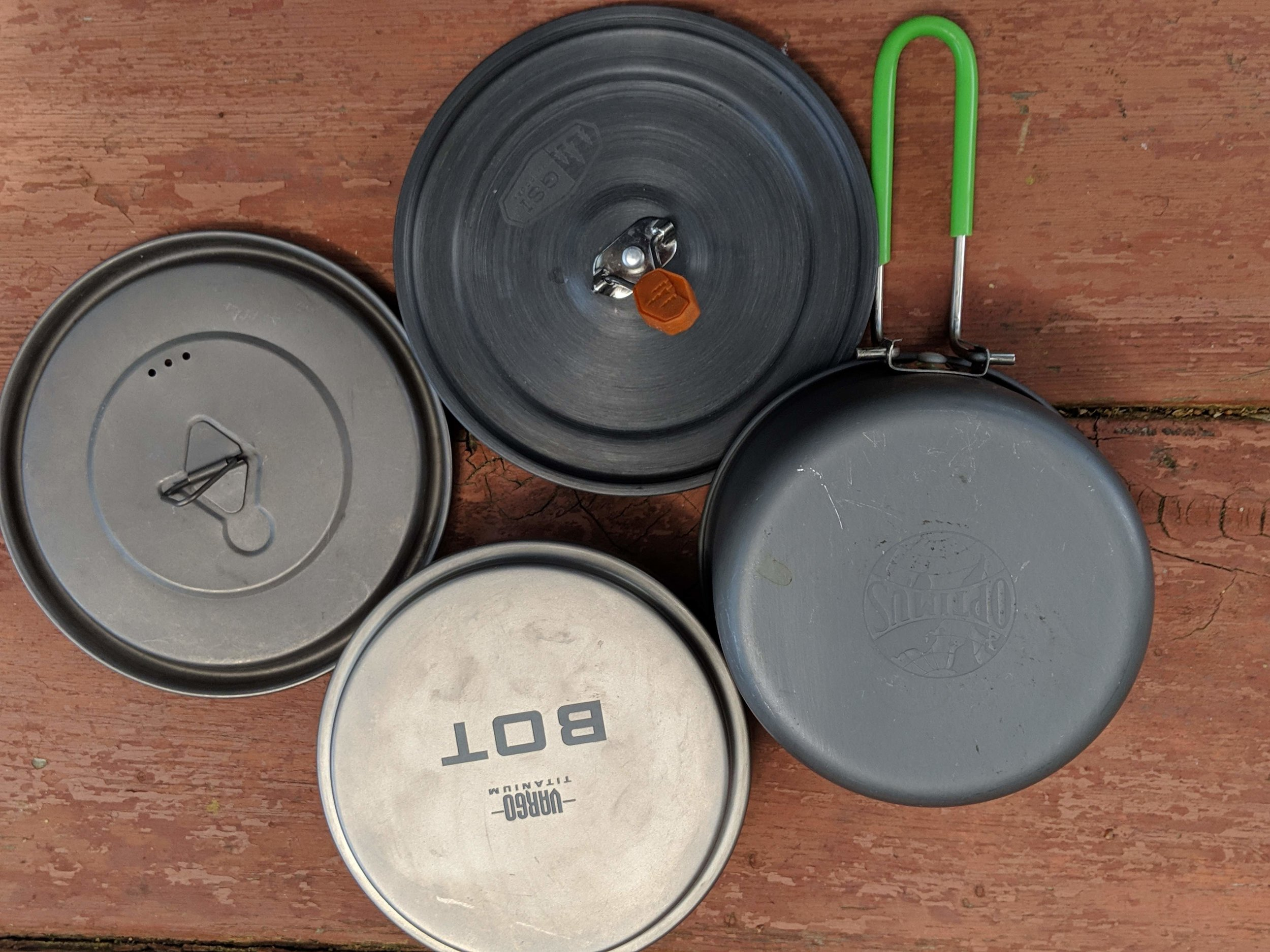 Different pots have different handles, insulation lids, and lips. Photo courtesy Liz Thomas.