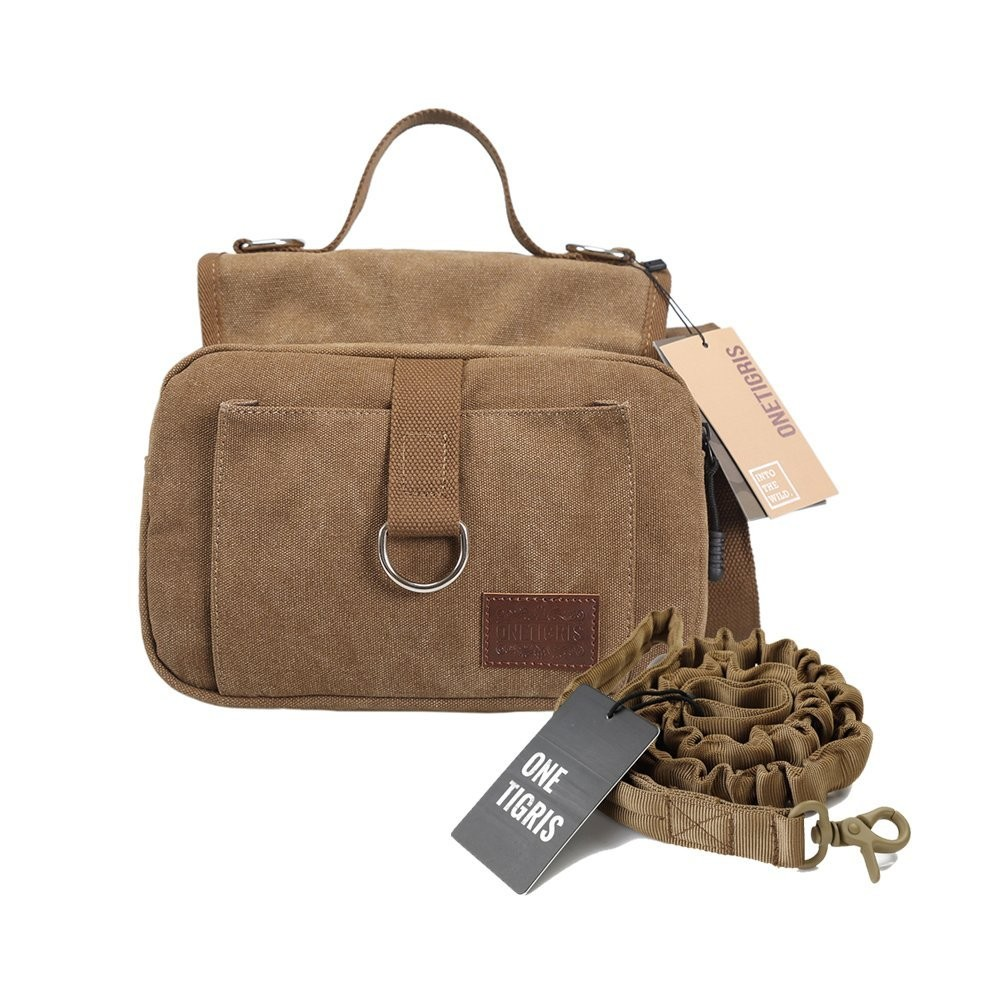 The OneTigris Hoppy Camper Canvas pack is our pick for best urban dog pack.