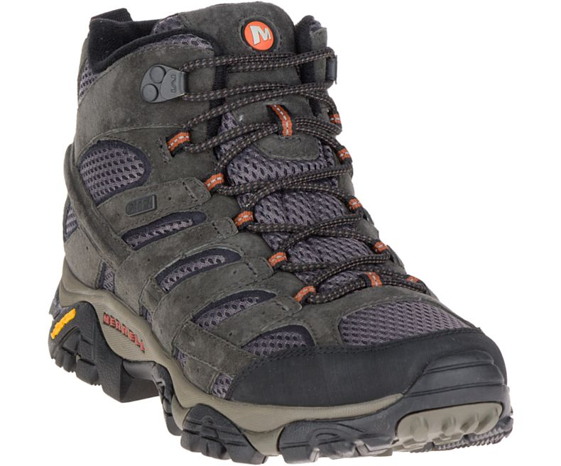 The Merrell Moab 2 Mid is our hiking boot budget pick, shown here in the waterproof version.
