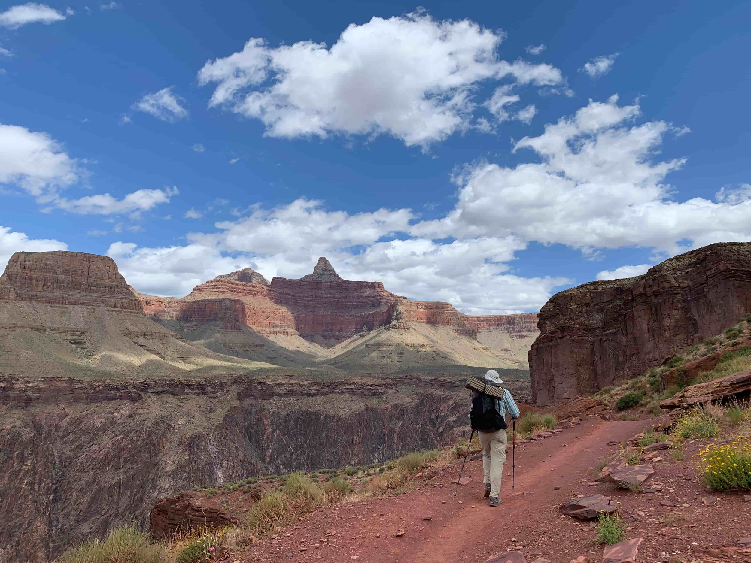 Our backpacking backpack writer Mike Unger in the Grand Canyon on the Arizona Trail. Photo courtesy Naomi Hudetz.