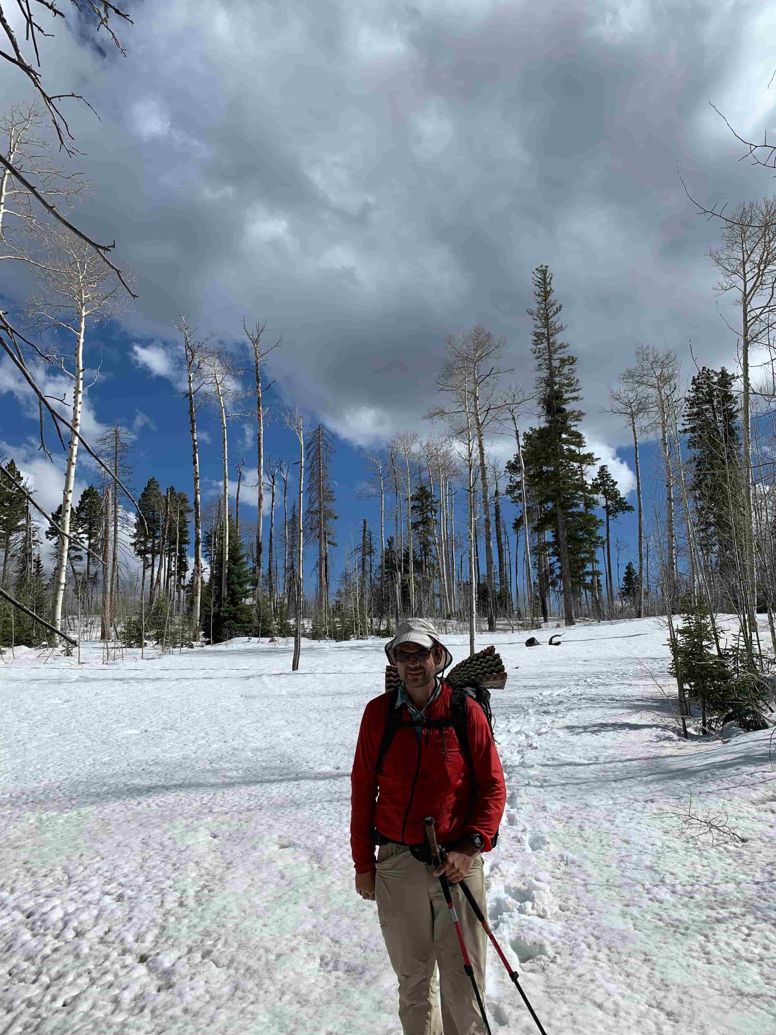 Mike wearing his Sunday Afternoons Wahoo Cap on the Arizona Trail. Photo courtesy Naomi Hudetz