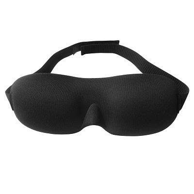 The Nidra Dreams Eye Mask in black.