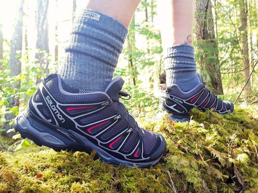 The Salomon Ultras are an equal mix of comfort and support.   Photo by Steve Redmond