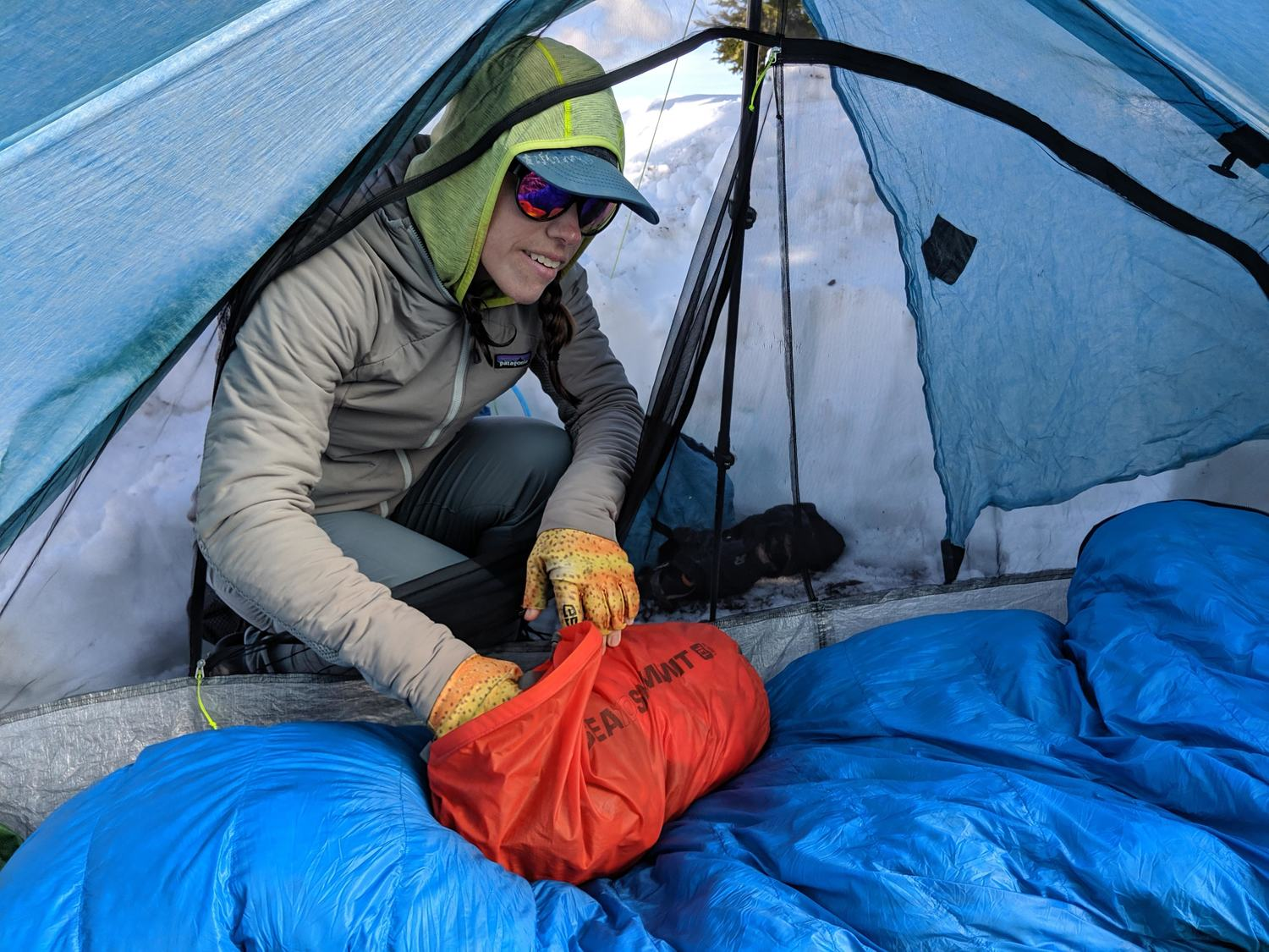 A backpacking sleeping bag is arguably the most important piece of gear you can own. Invest in a good one and it will last for a decade or more.   Photo by Dan Slattery.