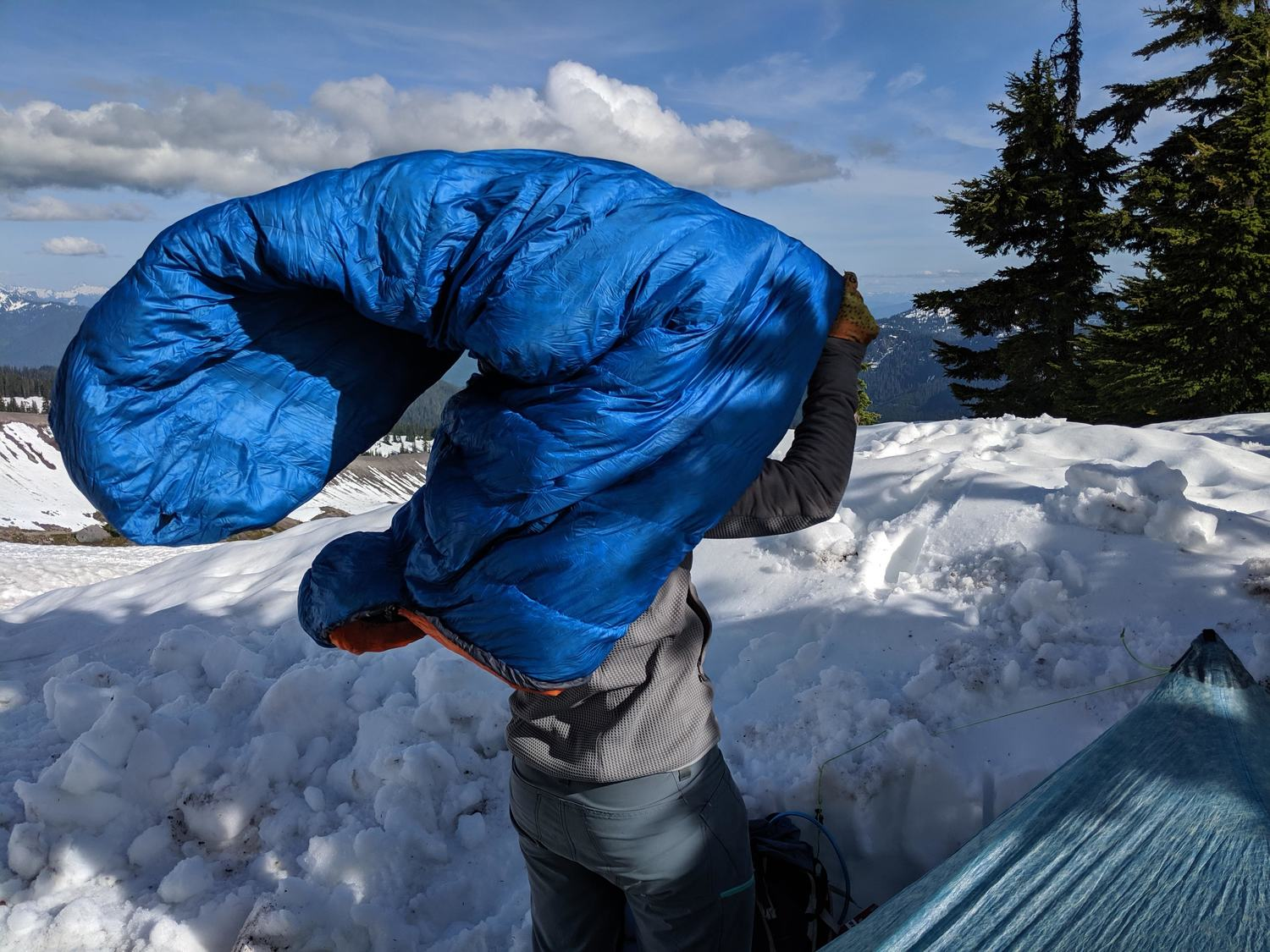 Choose a sleeping bag that is the closest length and width to your body dimensions.   Photo by Dan Slattery.