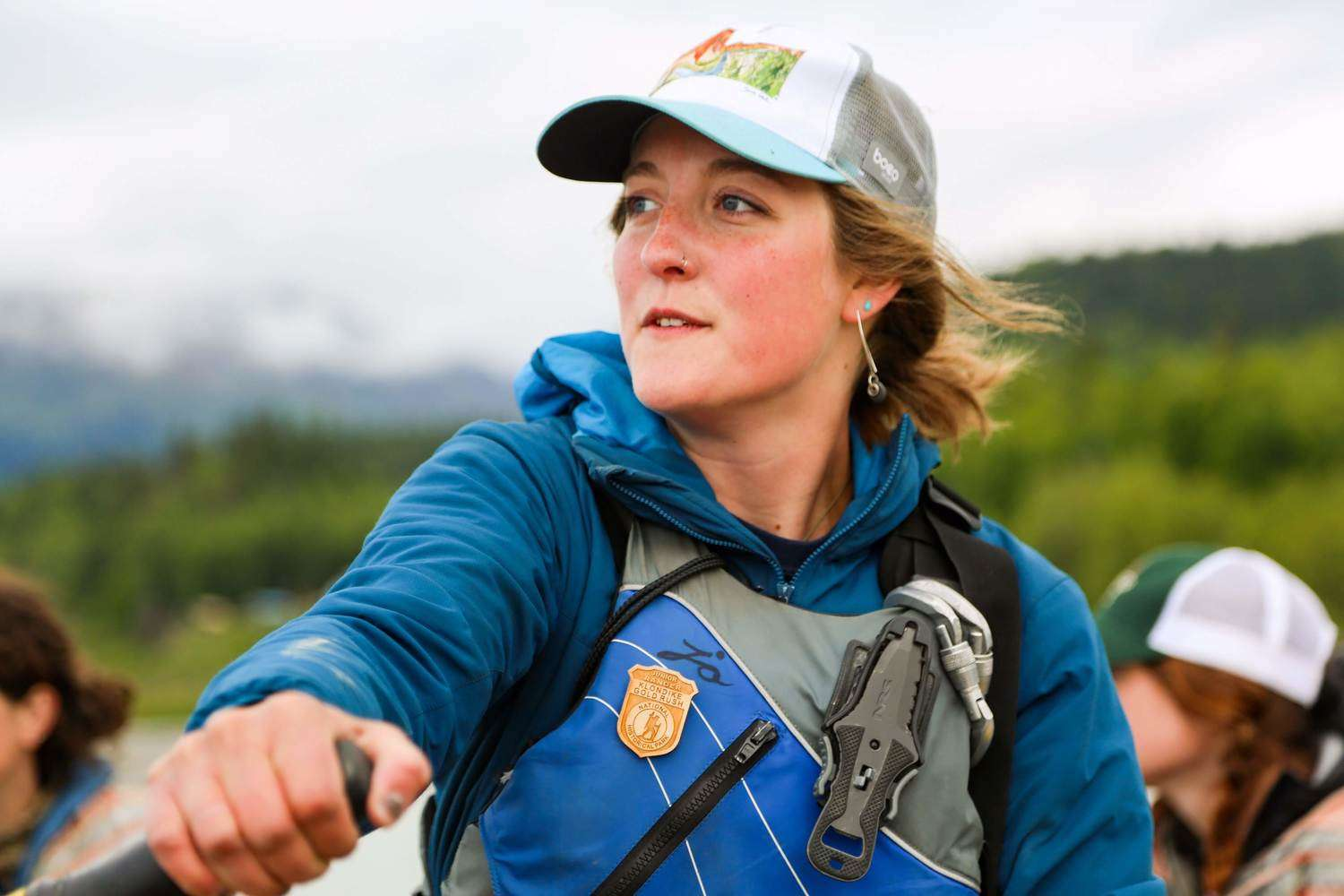 The author wearing the NRS Vapor on the Tsirku River in Alaska.   Photo courtesy Aaron Henry.