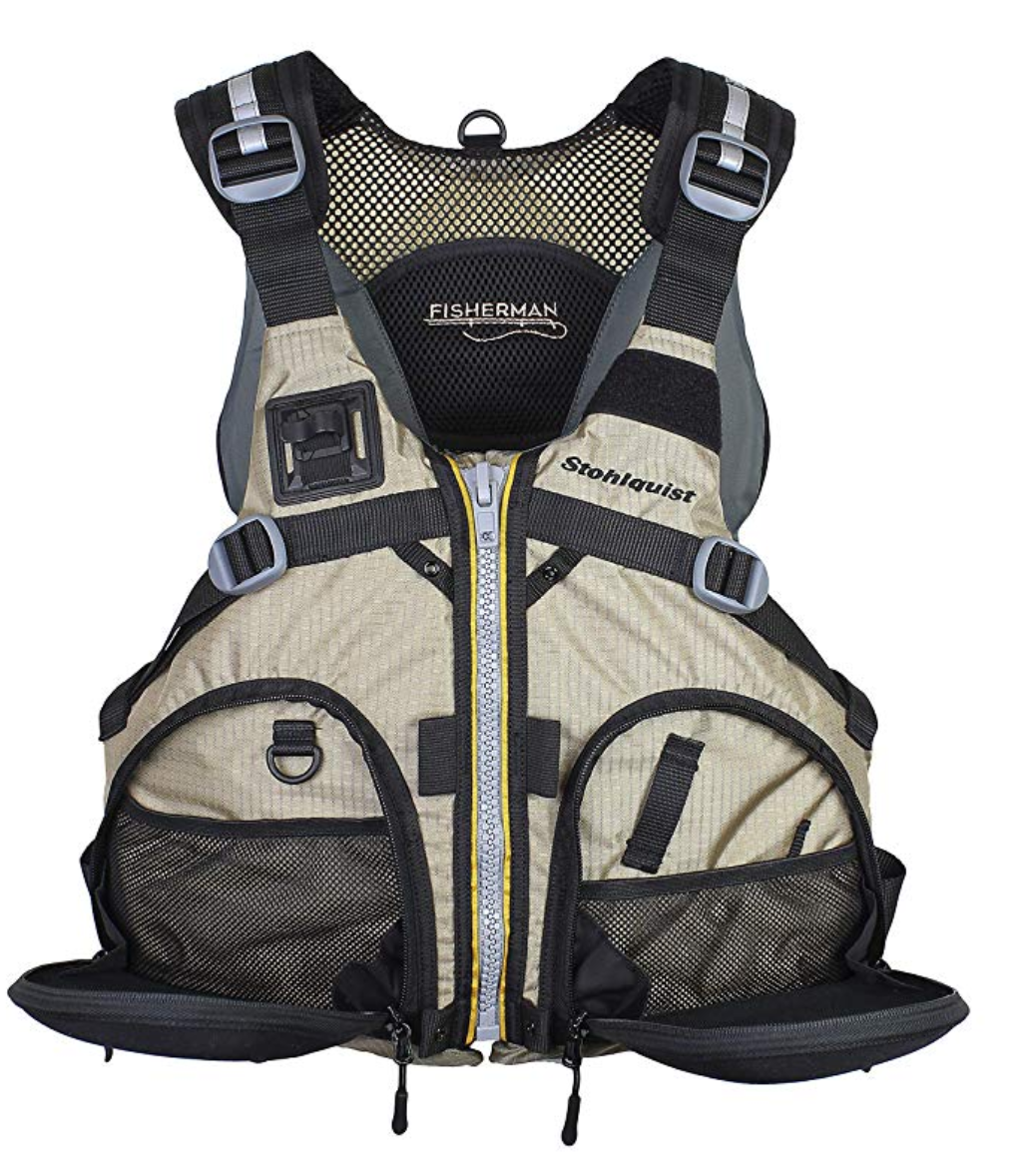 The Stohlquist Fisherman is our pick for best life jacket for fishing.