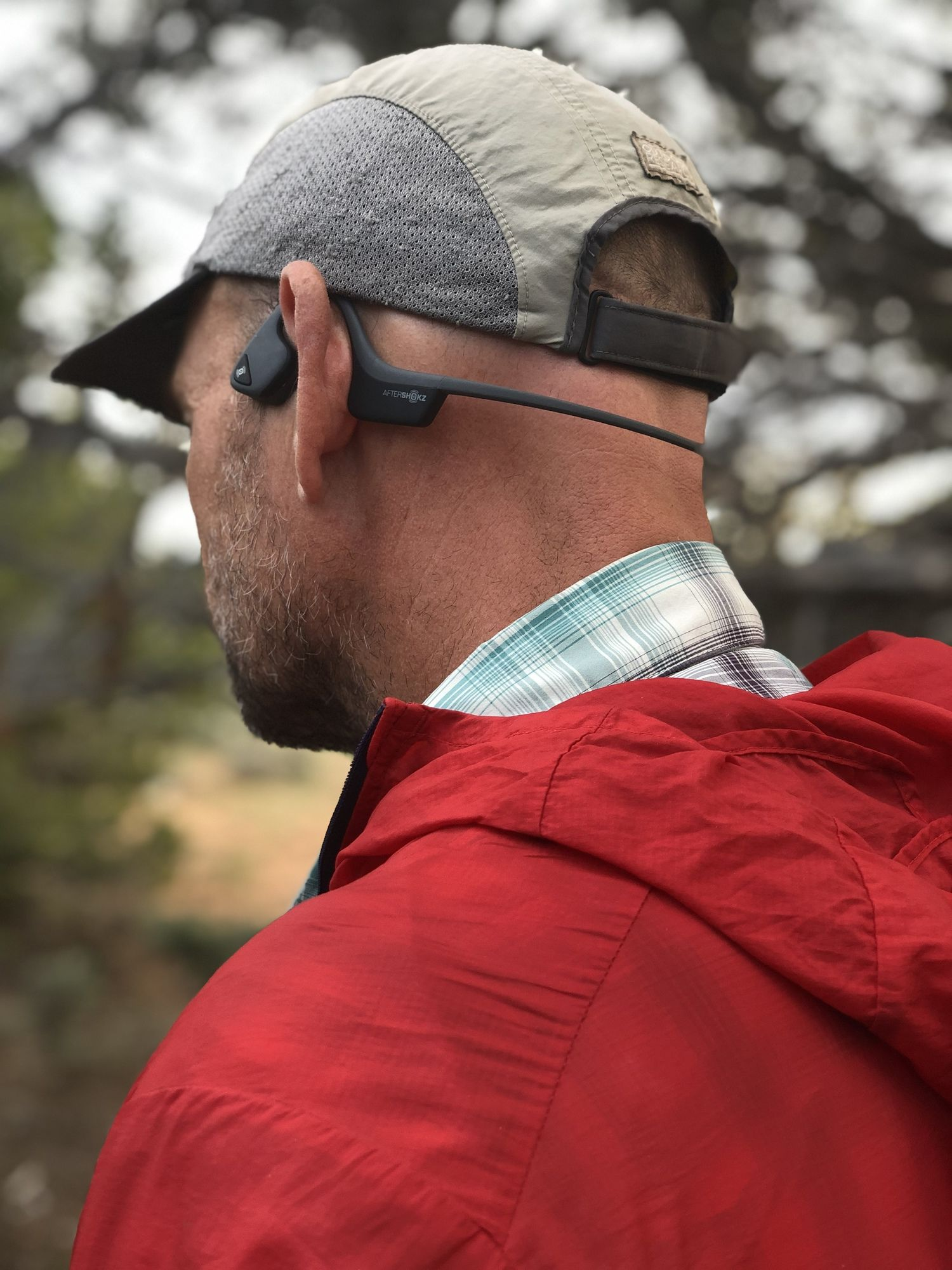 The Aftershokz Trekz Air headphones are our pick for Situational Awareness. They work by not covering your eardrums, meaning you can still hear that rattlesnake, car approaching, or your hiking partner calling for help.