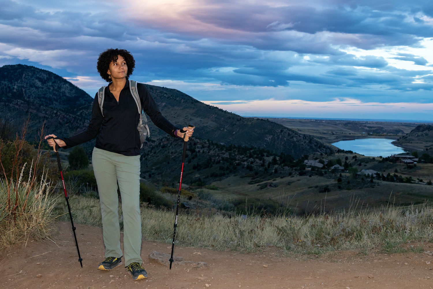 Amanda Jameson researched and reported on hiking poles.   Photo courtesy John Carr