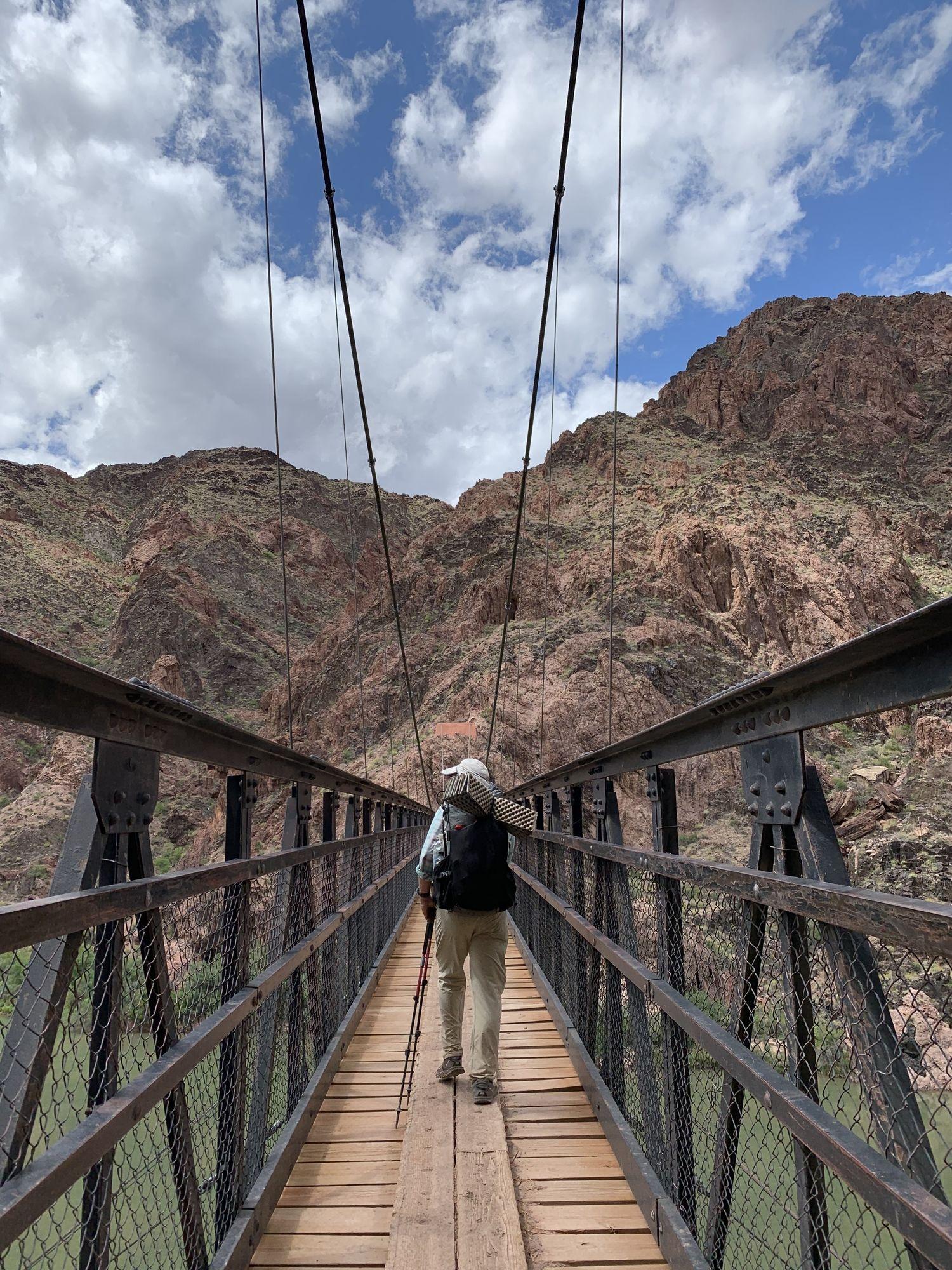 The gear tester walking on the Arizona Trail.