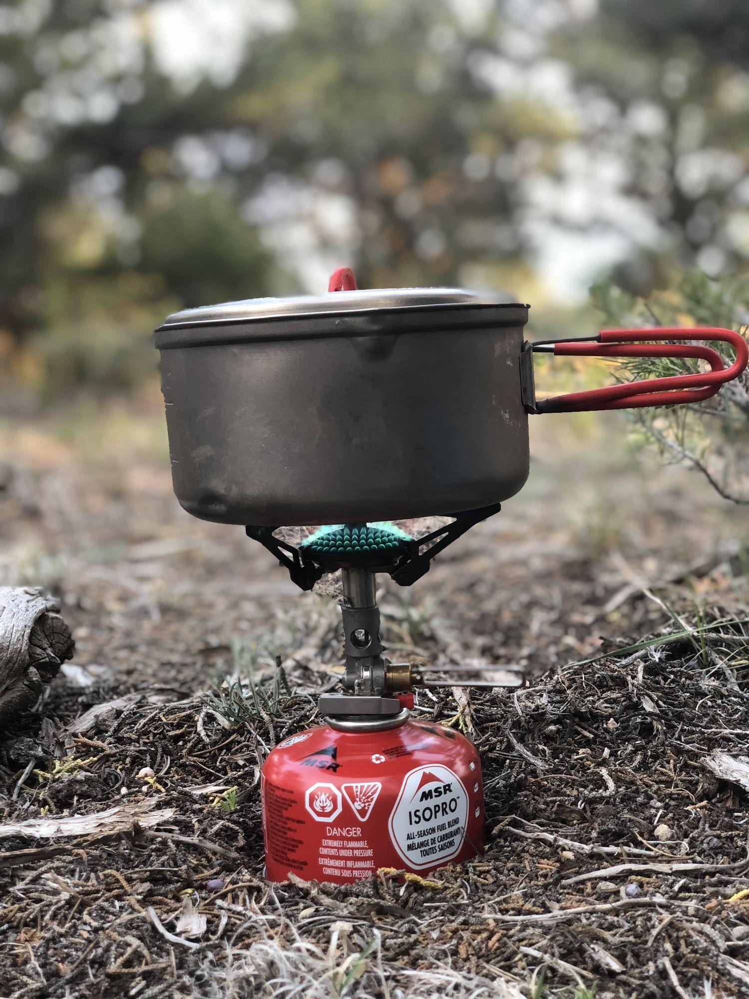 Soto Microregulator stove on the Arizona Trail.   Photo courtesy Naomi Hudetz