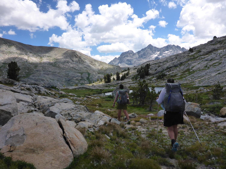 A hiker testing the  Black Diamond Alpine Carbon Cork .